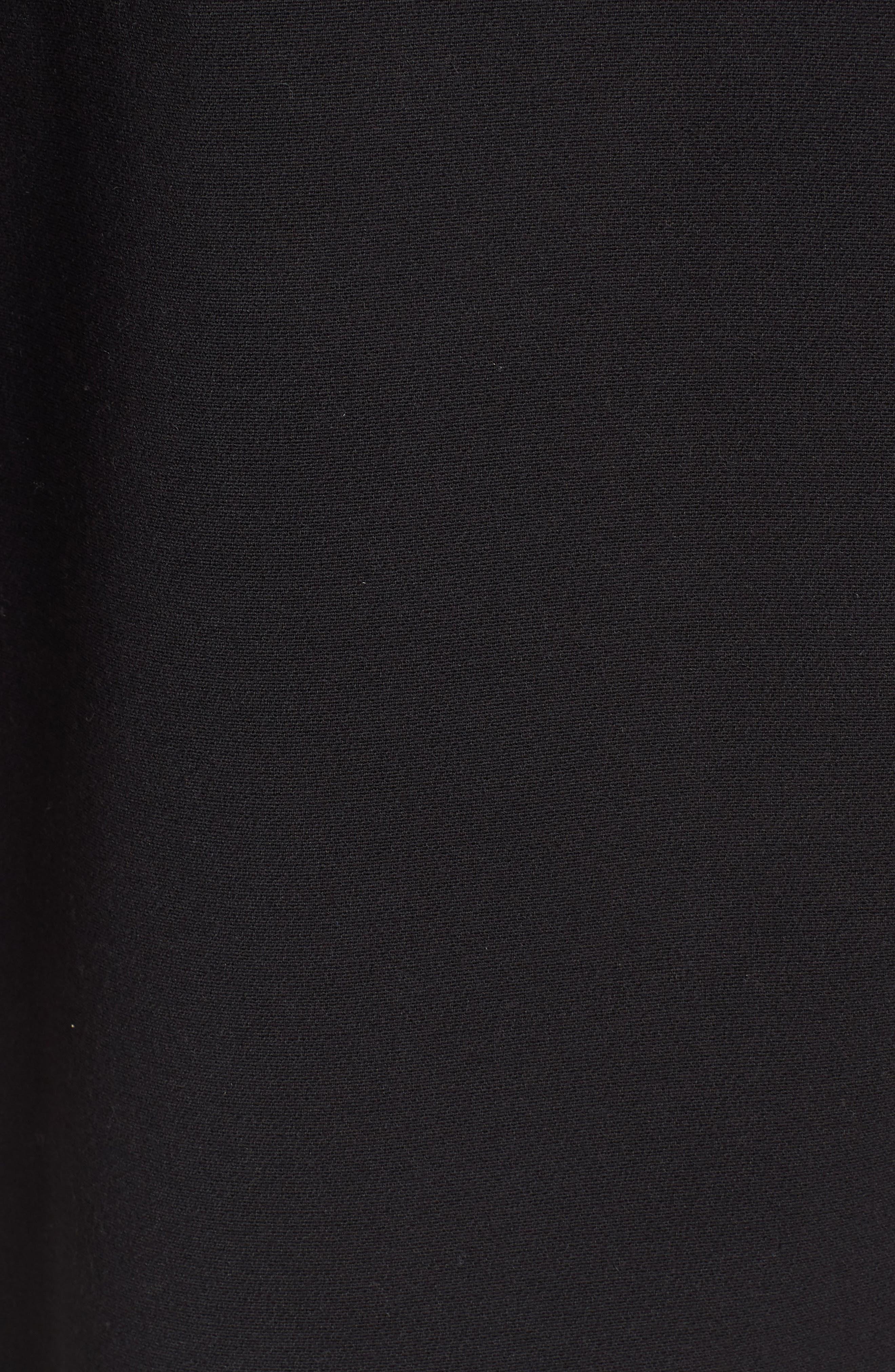 KENNETH COLE NEW YORK,                             Inverted Collar Ponte Jacket,                             Alternate thumbnail 6, color,                             BLACK