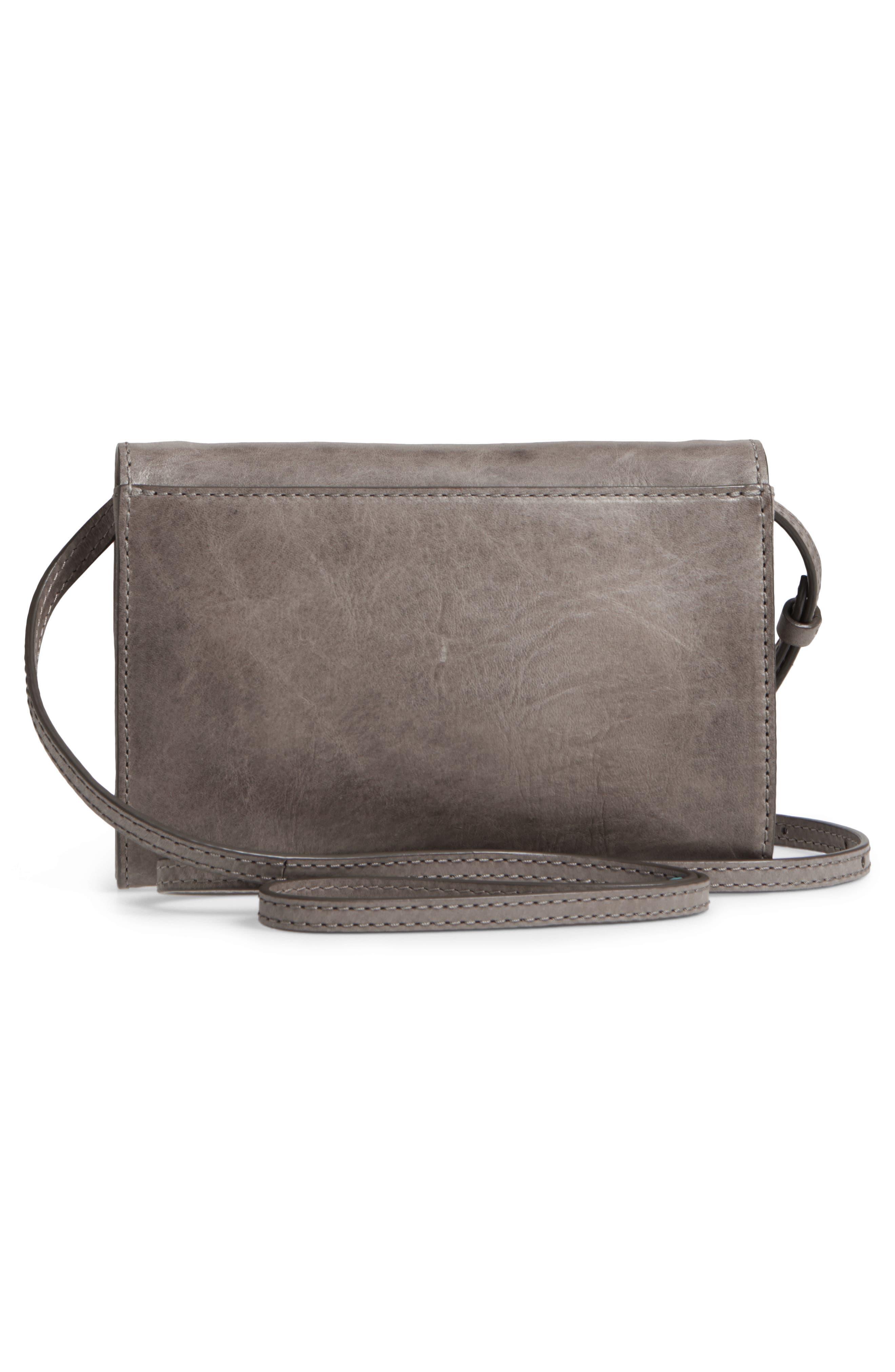 Melissa Leather Crossbody Bag,                             Alternate thumbnail 3, color,                             ICE