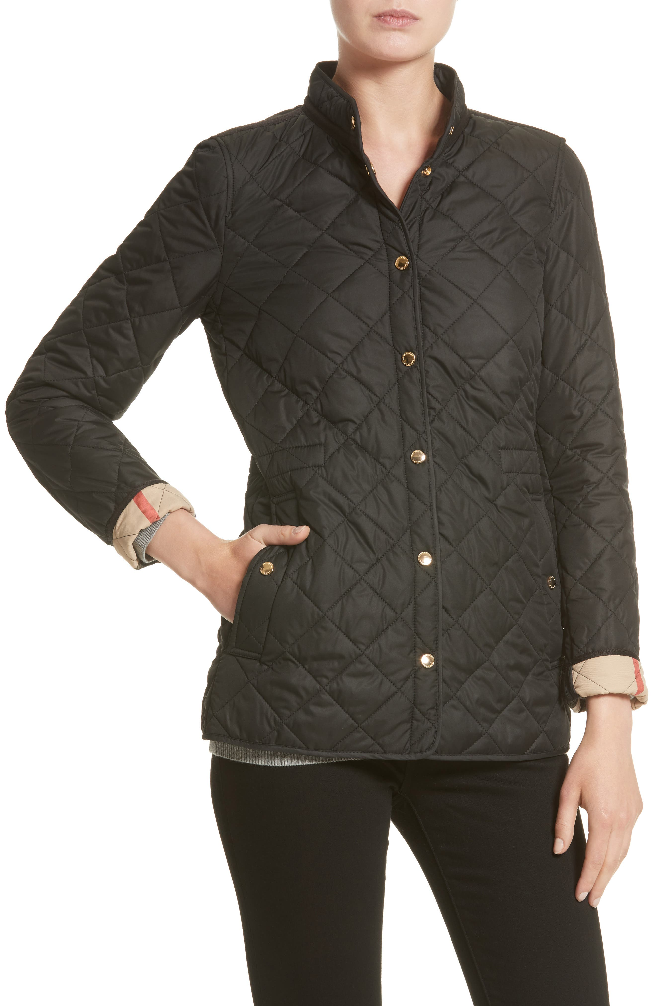 Pensham Quilted Jacket,                             Alternate thumbnail 4, color,                             001