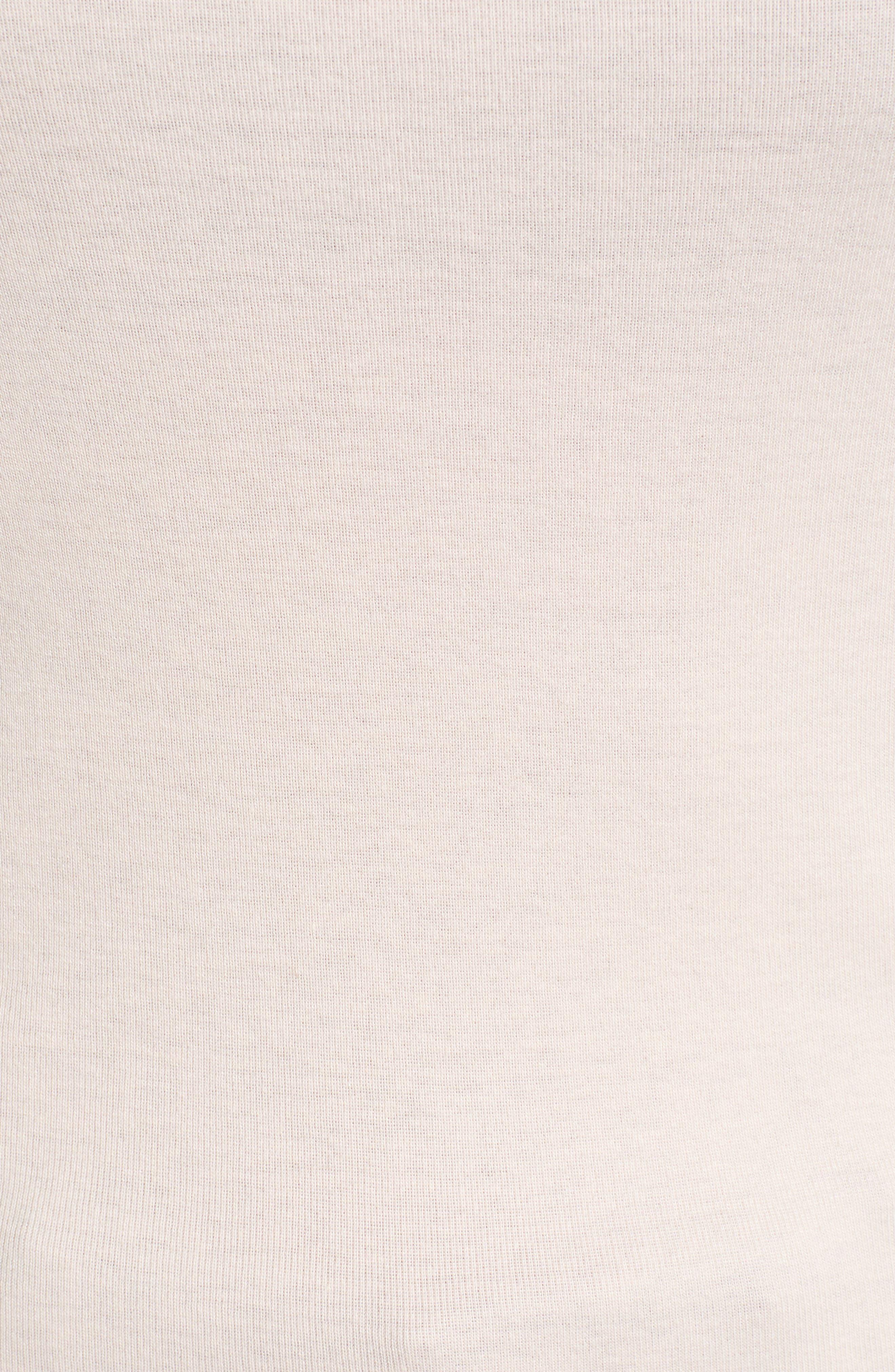 Three Quarter Sleeve Tee,                             Alternate thumbnail 6, color,                             PINK CHINTZ