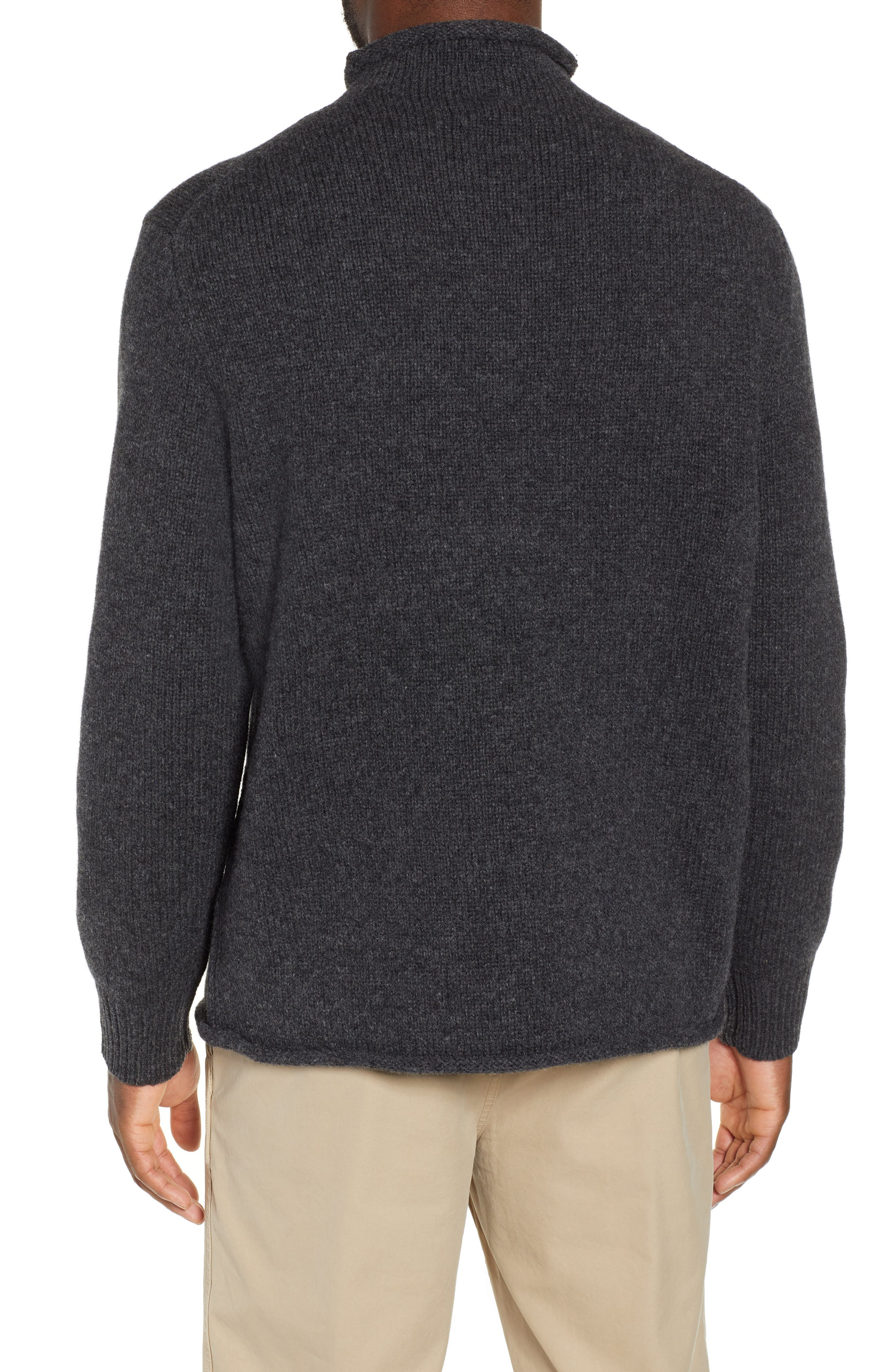 J.CREW,                             Relaxed Rollneck<sup>™</sup> Lambswool Sweater,                             Alternate thumbnail 2, color,                             020
