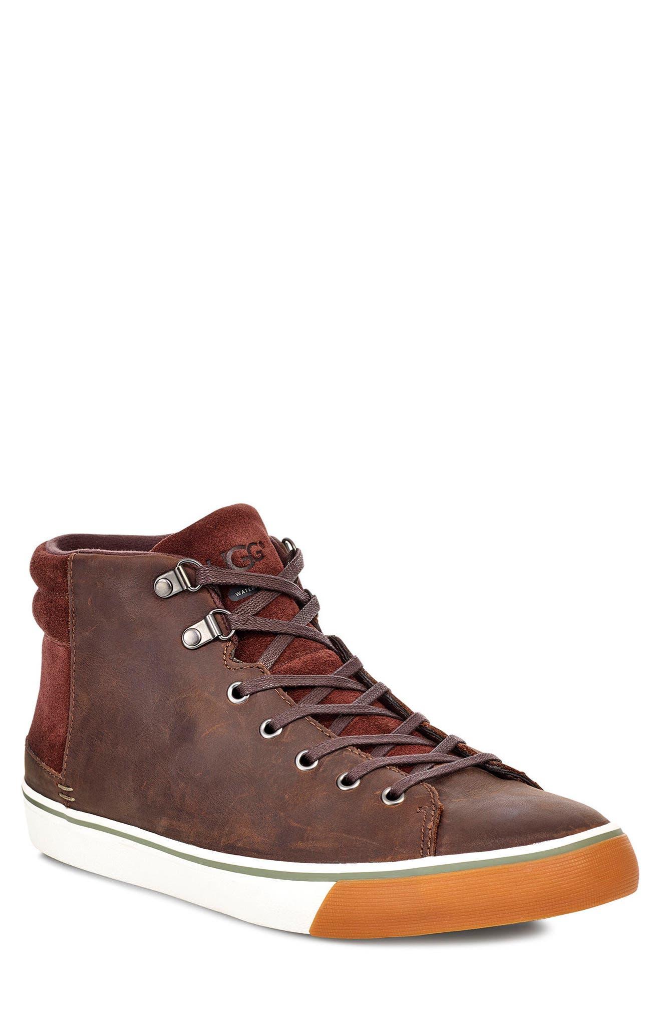 Hoyt II Waterproof Sneaker, Main, color, GRIZZLY