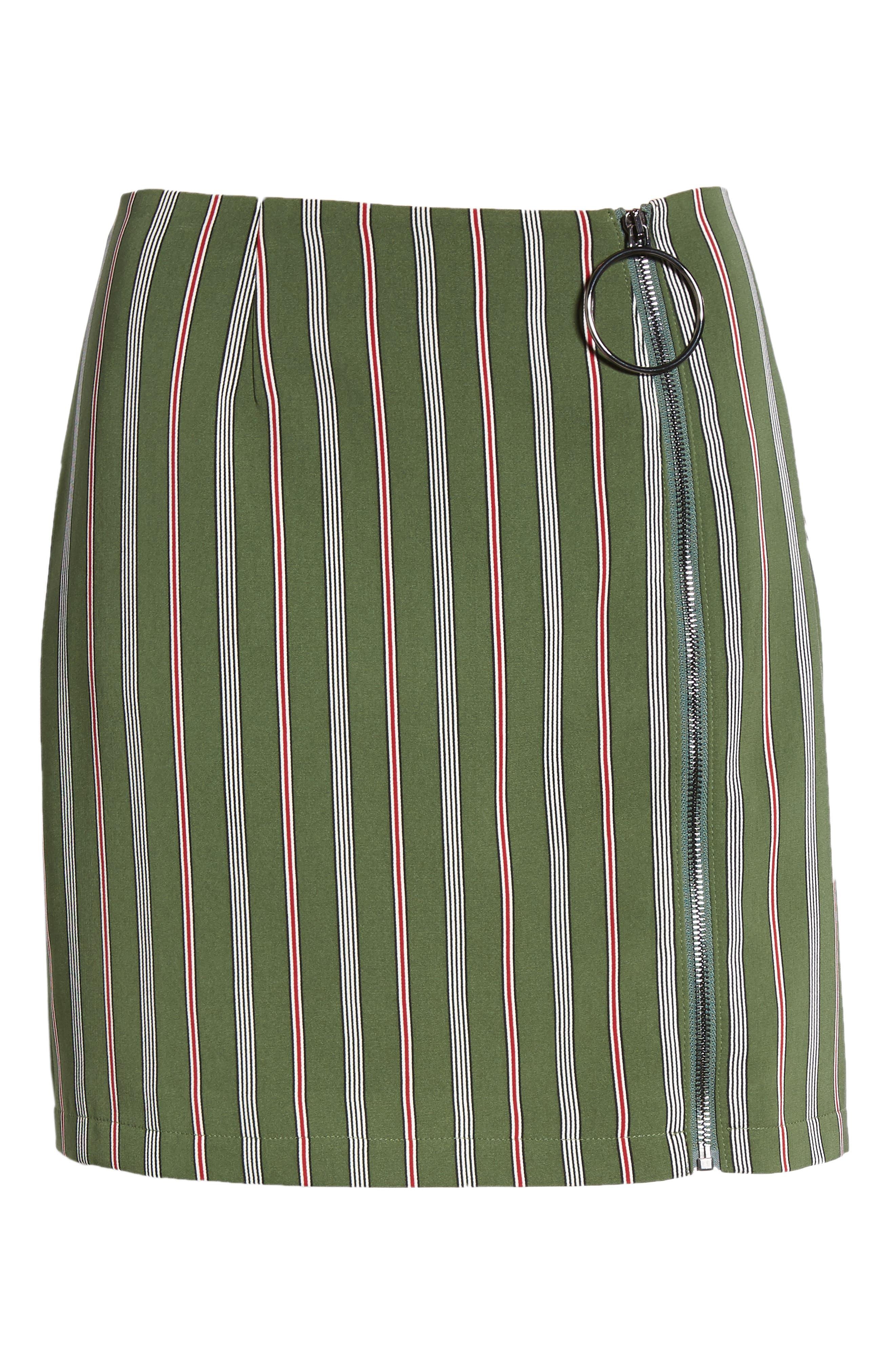 Axial Stripe Miniskirt,                             Alternate thumbnail 6, color,                             300