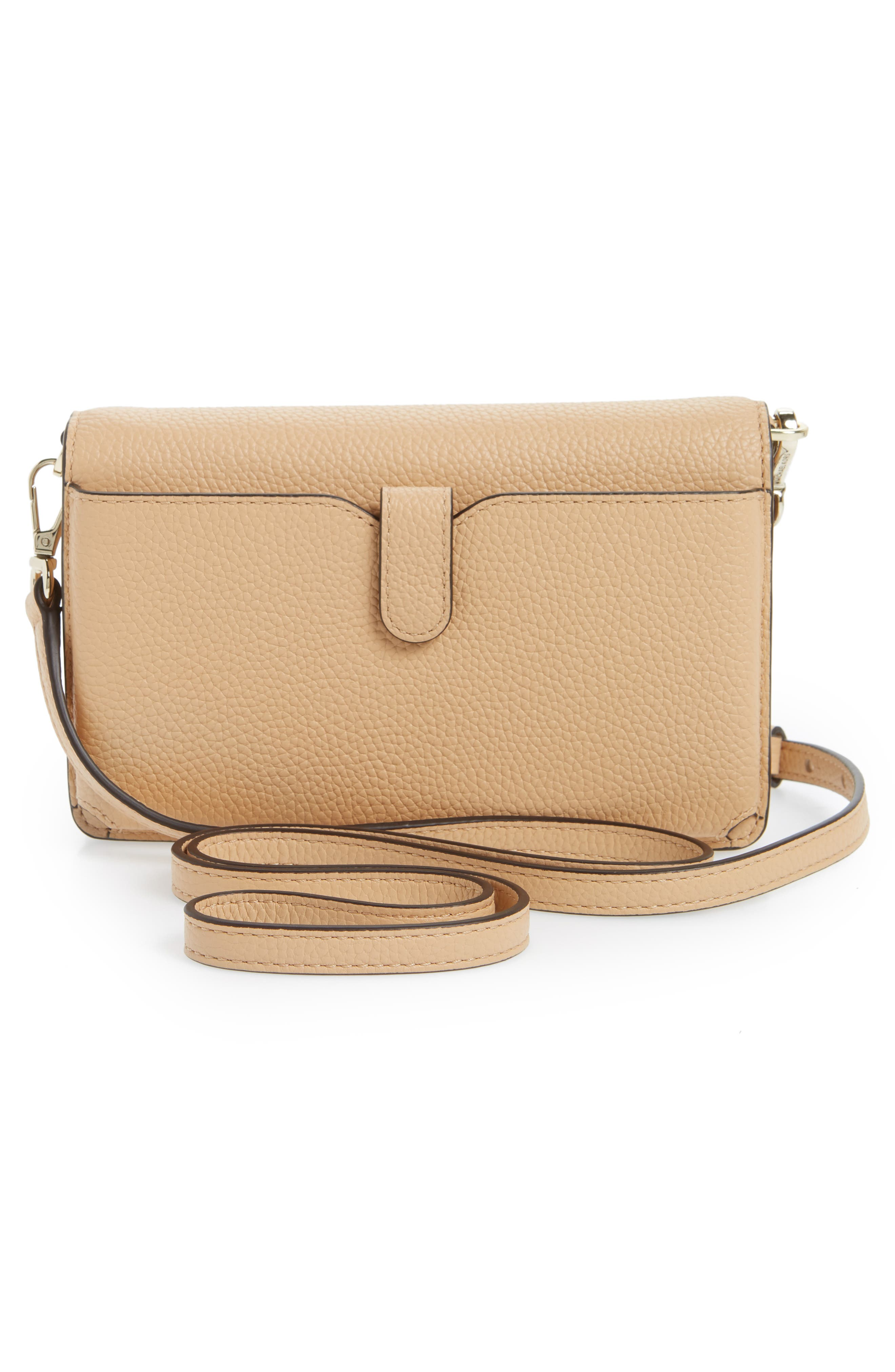 Leather Crossbody Phone Wallet,                             Alternate thumbnail 3, color,                             250