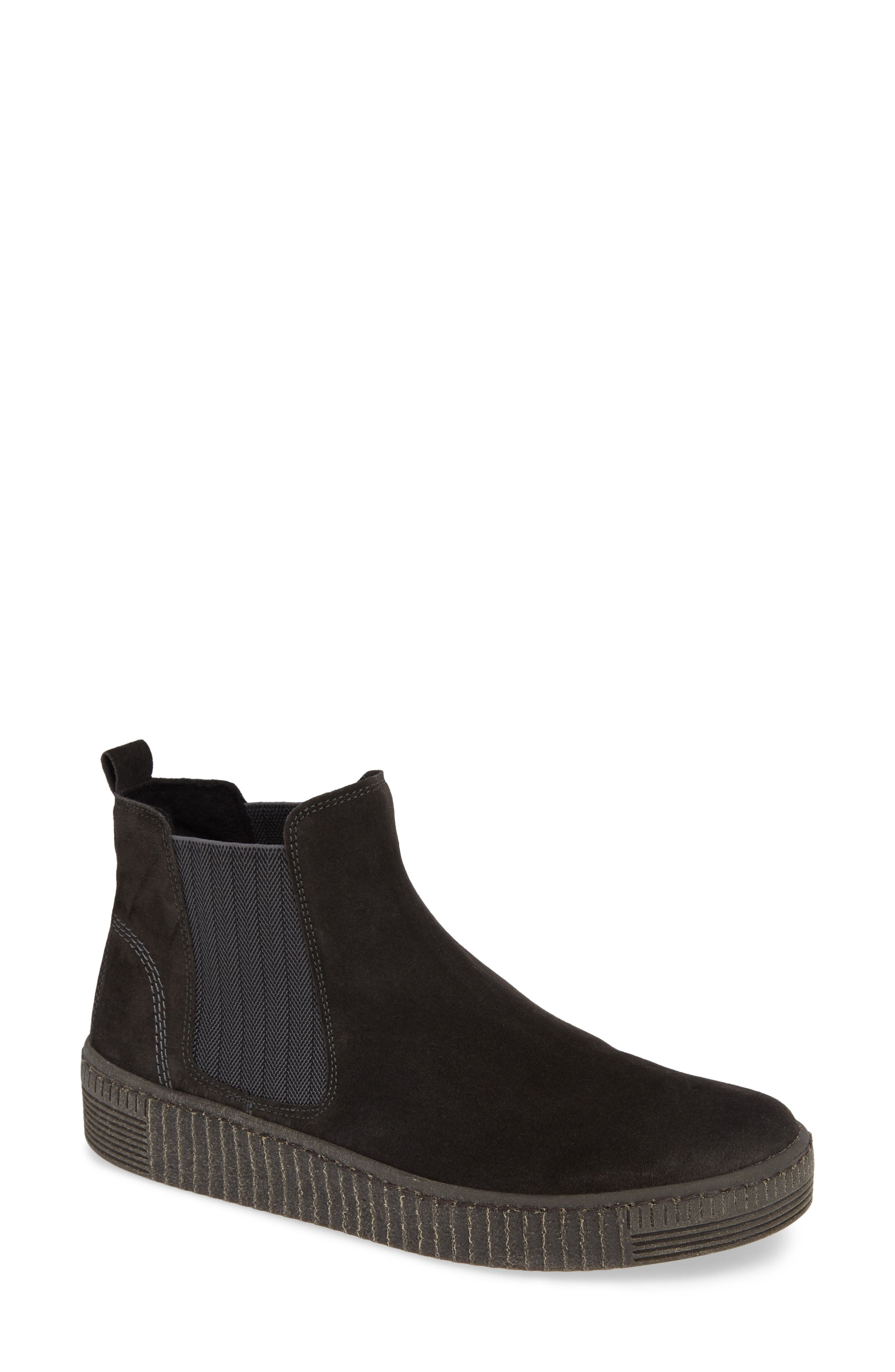Chelsea Sneaker,                             Main thumbnail 1, color,                             PEPPER SUEDE