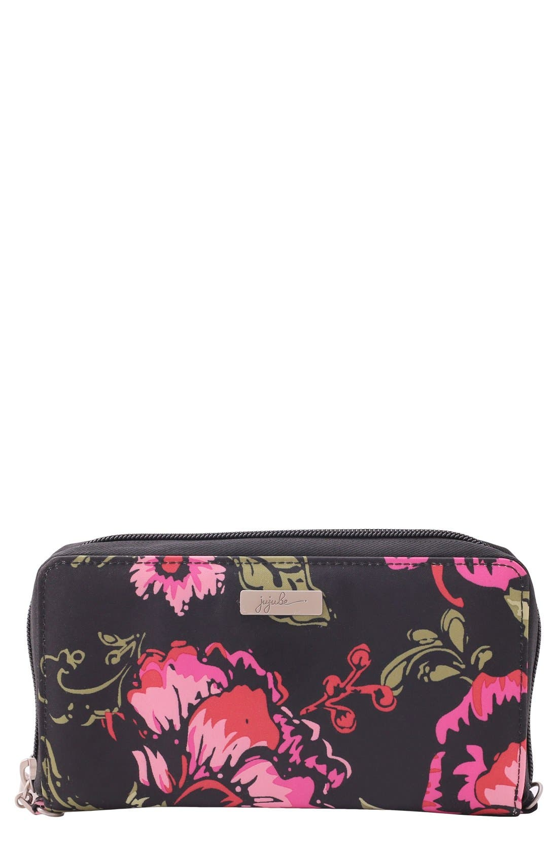 Be Spendy Clutch Wallet,                         Main,                         color, BLOOMING ROMANCE