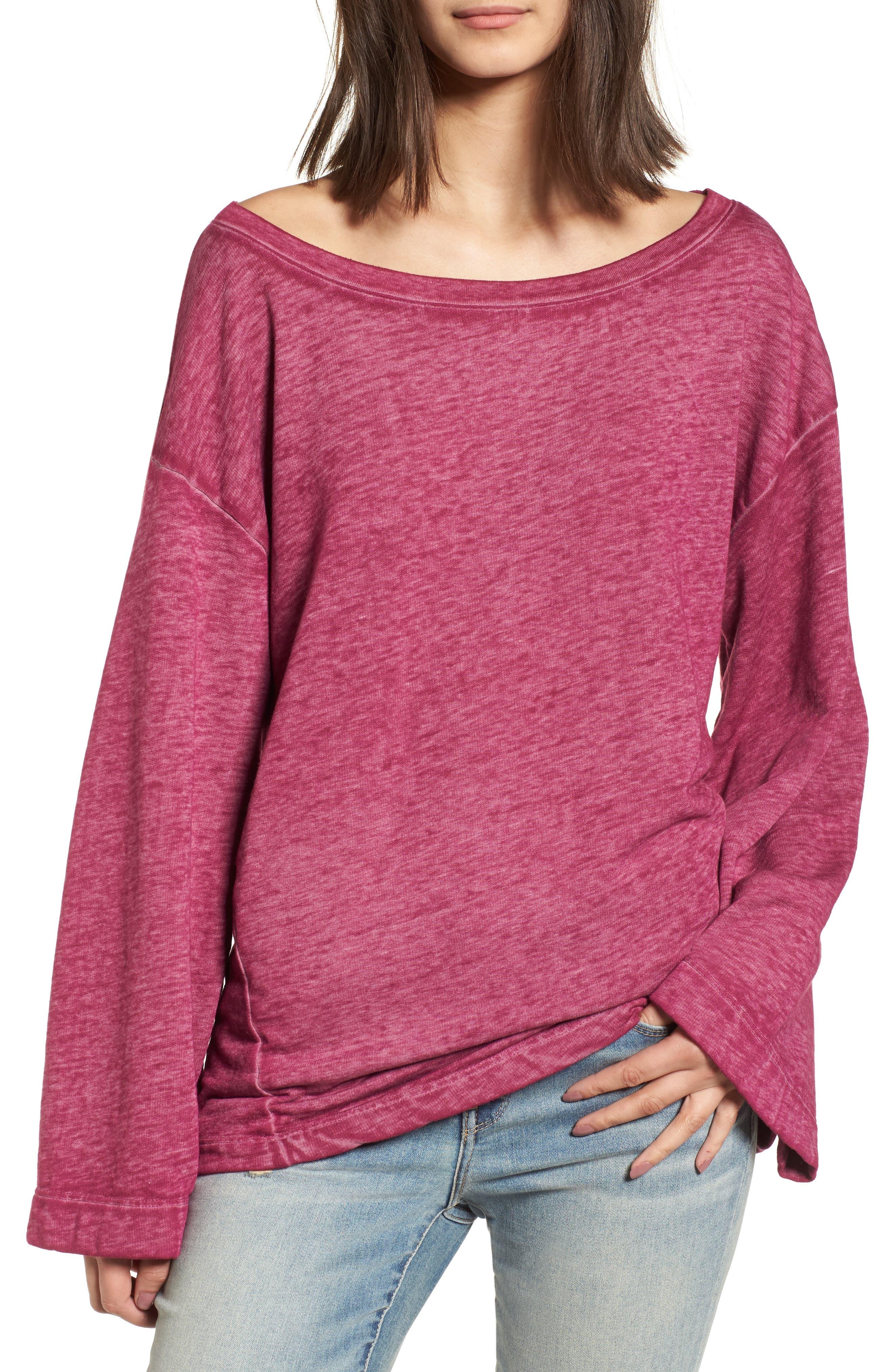 Bell Sleeve Sweatshirt,                             Main thumbnail 4, color,