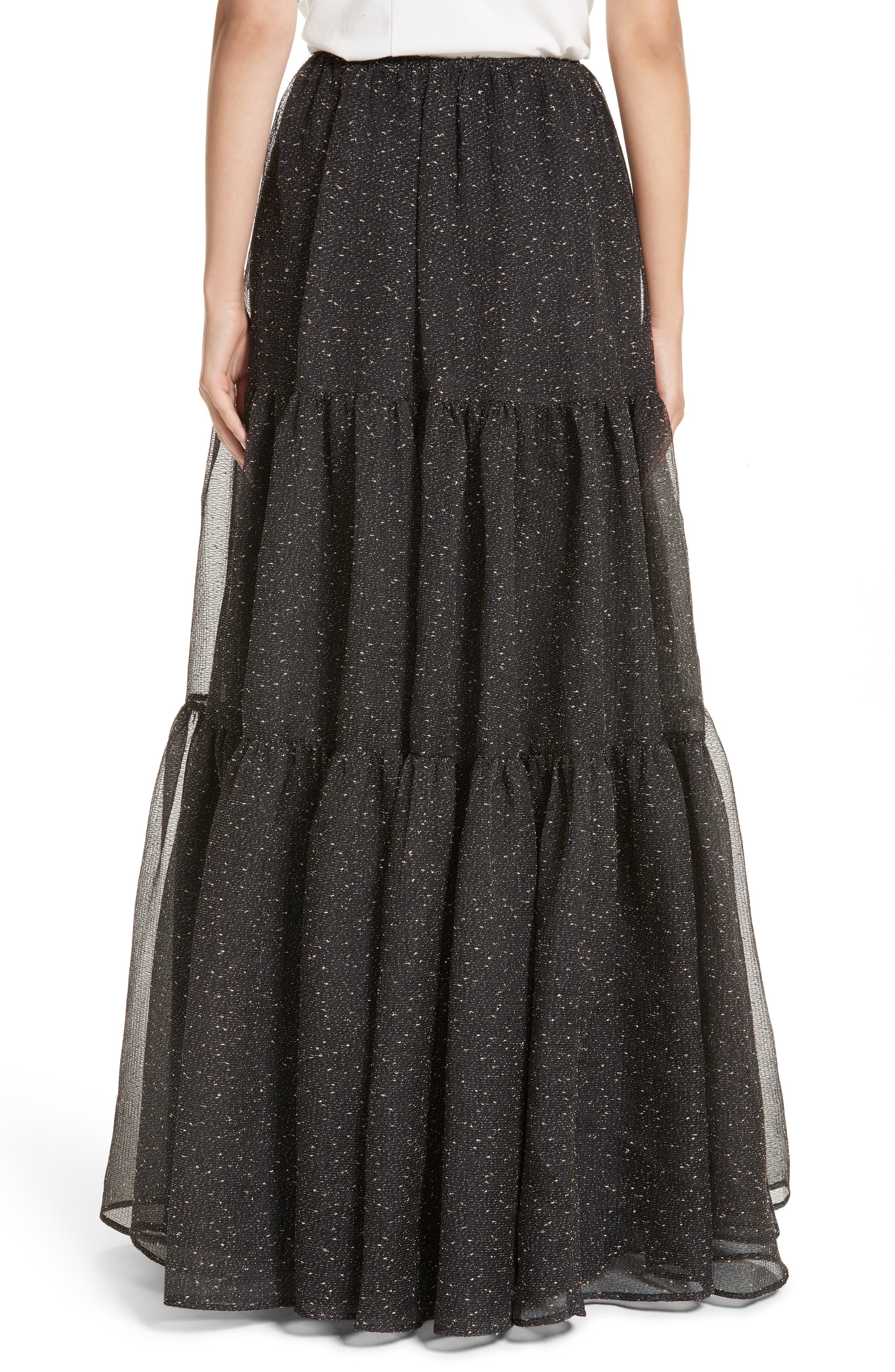 Tiered Organza Maxi Skirt,                             Alternate thumbnail 2, color,                             015