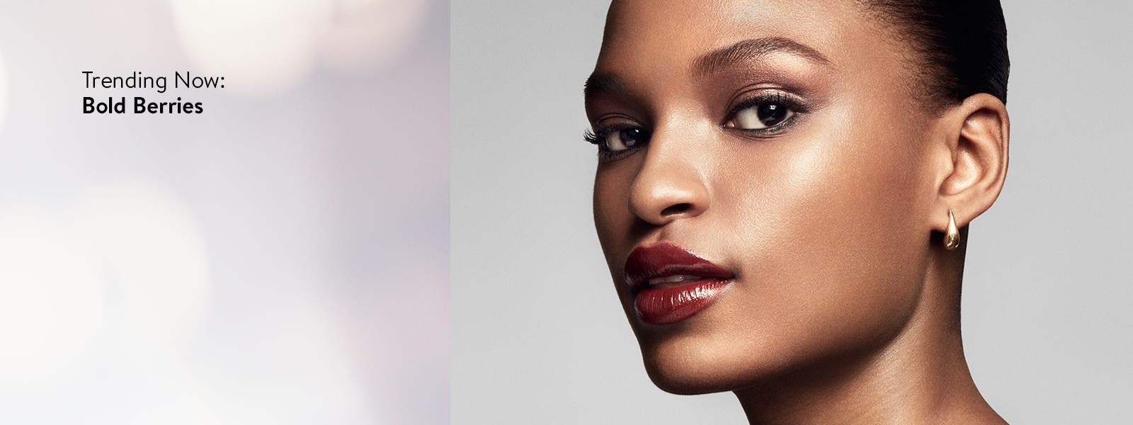 Trending now: bold berry lip color.