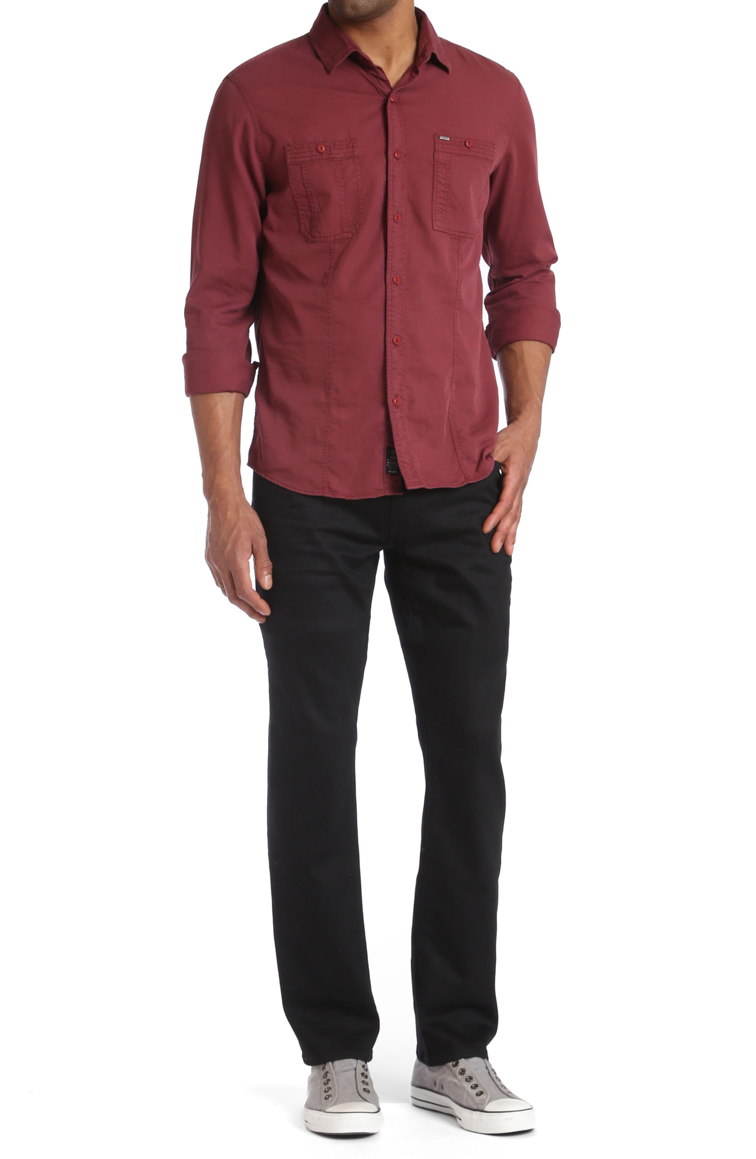 Zach Straight Fit Jeans,                             Alternate thumbnail 4, color,                             001