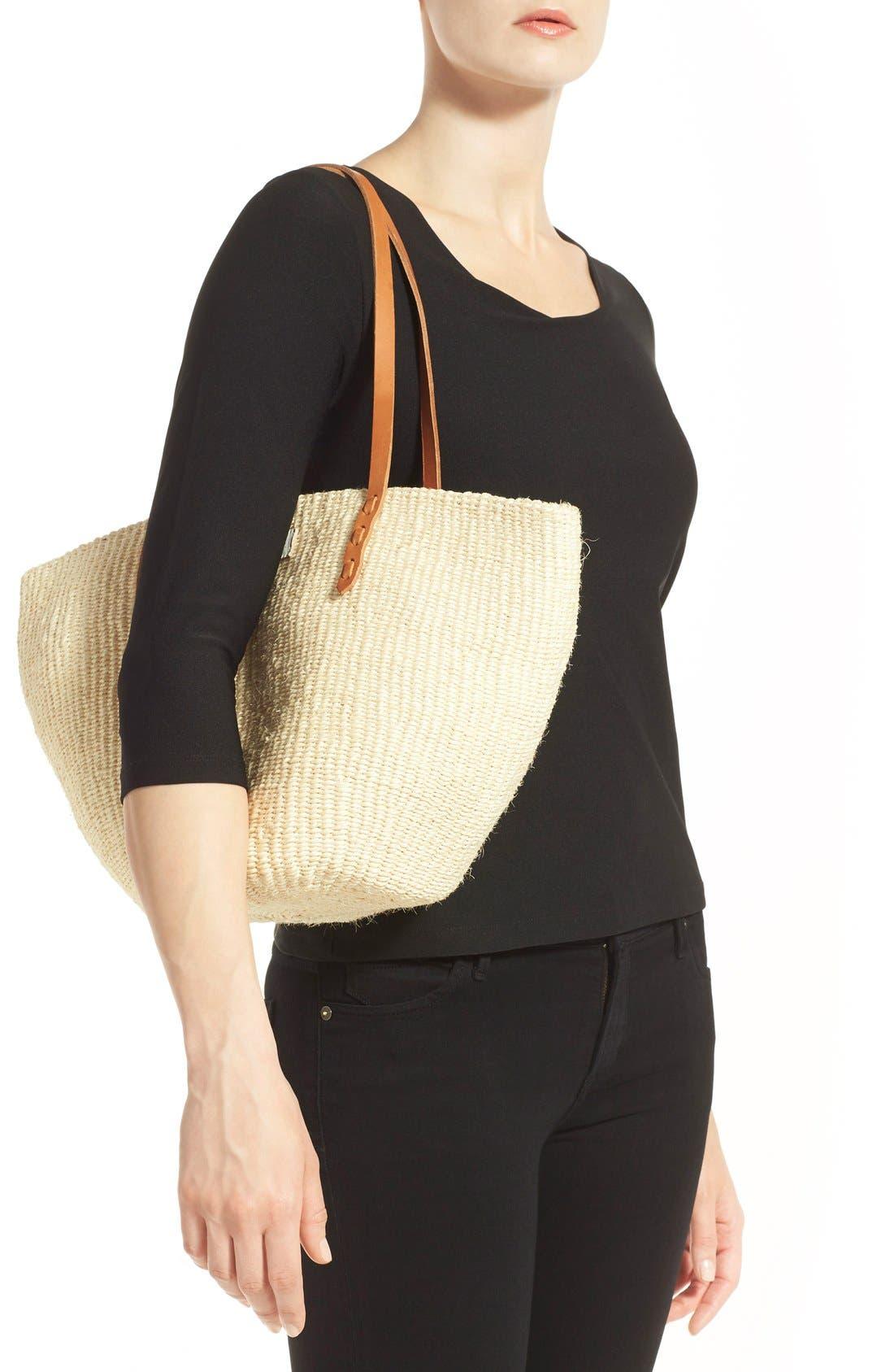 'Kenya' Sisal Shoulder Bag,                             Alternate thumbnail 6, color,                             900