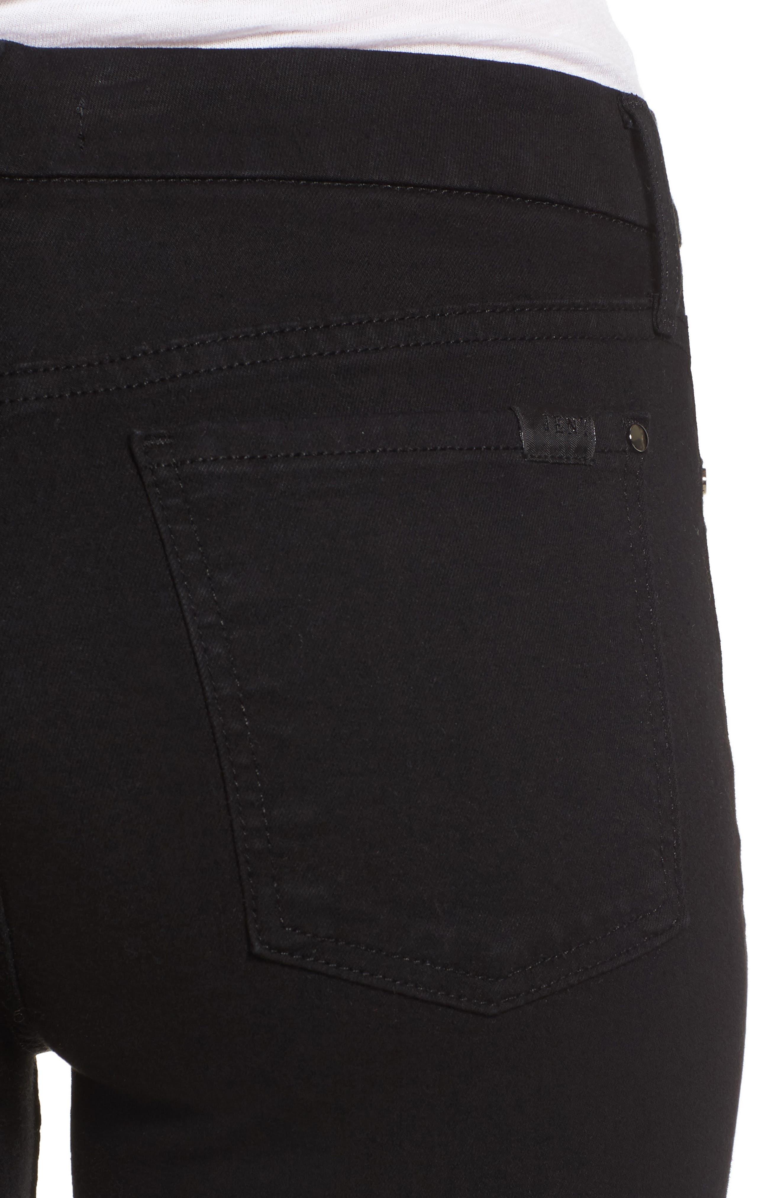 Skinny Jeans,                             Alternate thumbnail 4, color,                             RICHE TOUCH BLACK NOIR