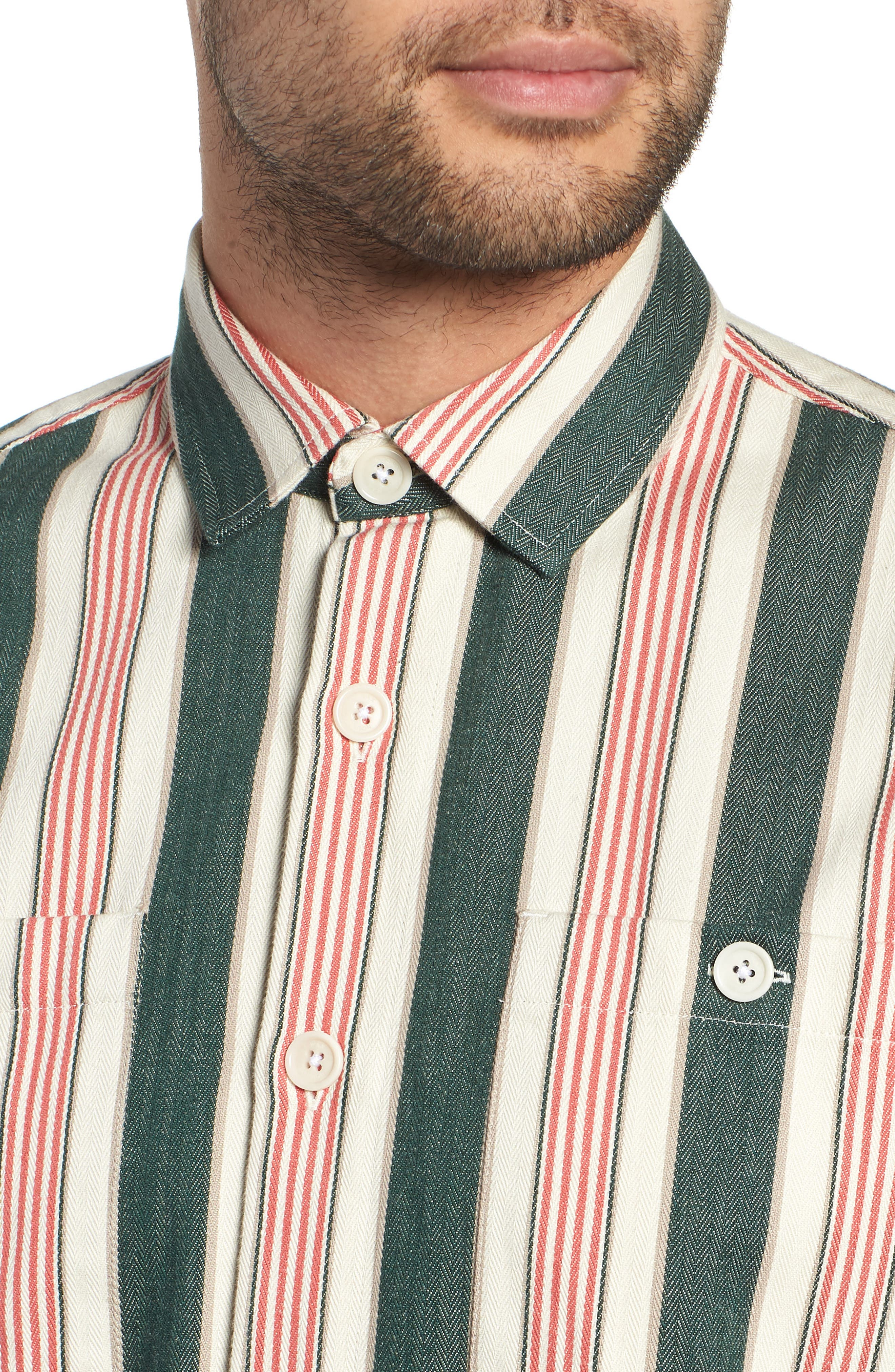 Whiting Woven Shirt,                             Alternate thumbnail 2, color,                             BEACH