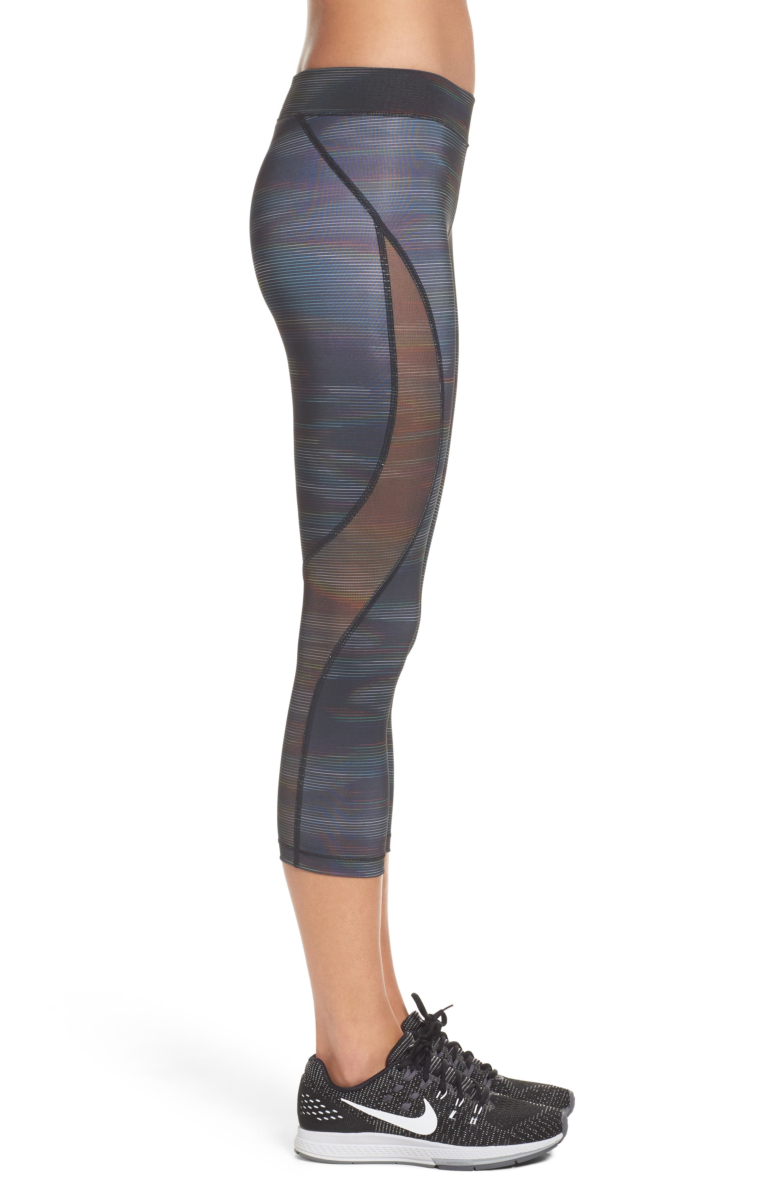 Pro HyperCool Capri Leggings,                             Alternate thumbnail 3, color,