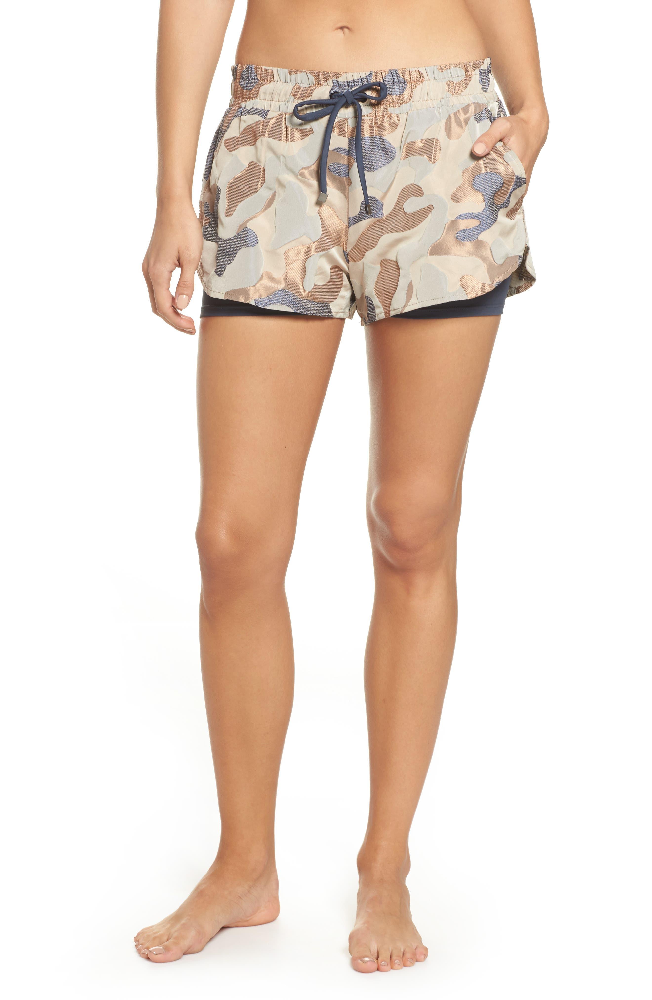 Sand Layered Shorts,                         Main,                         color, ASHEN/ CAMEO