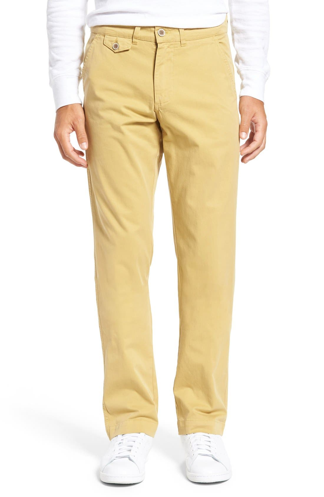 VINTAGE 1946 Sunny Modern Fit Stretch Twill Chinos in Mohave Desert