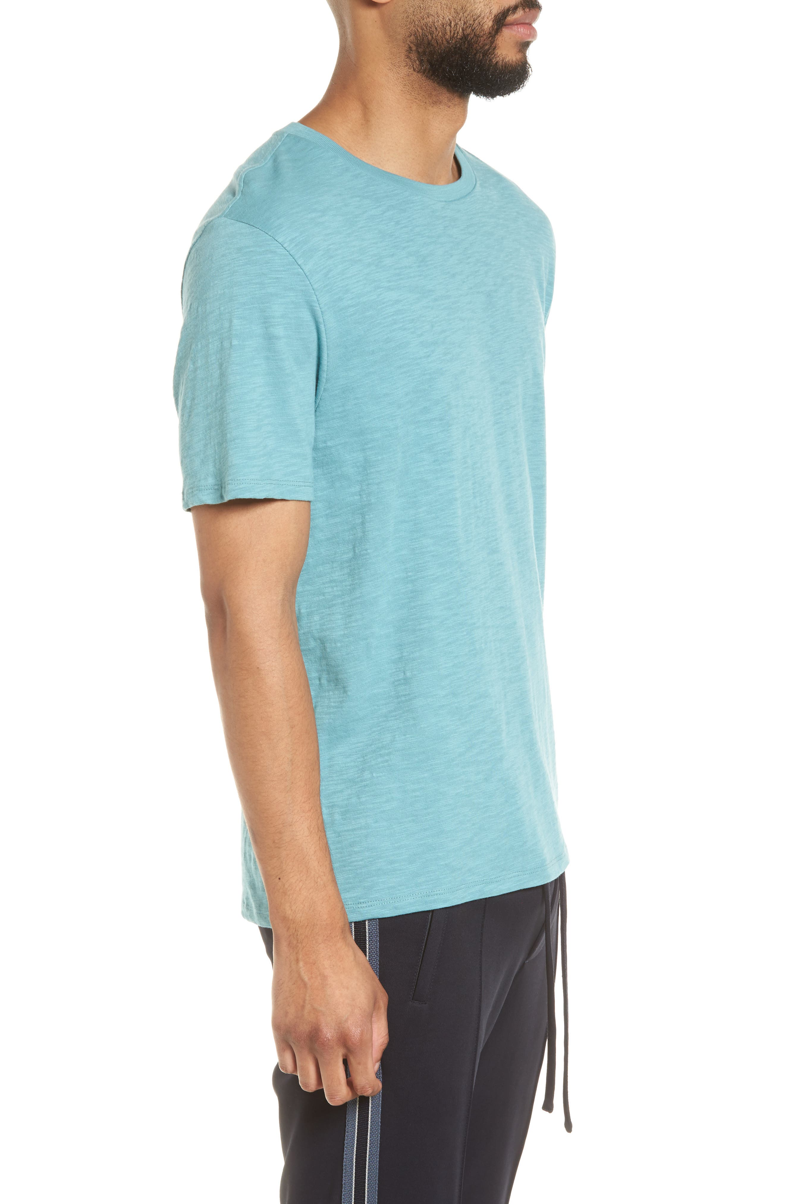 Slim Fit Slub Cotton T-Shirt,                             Alternate thumbnail 3, color,