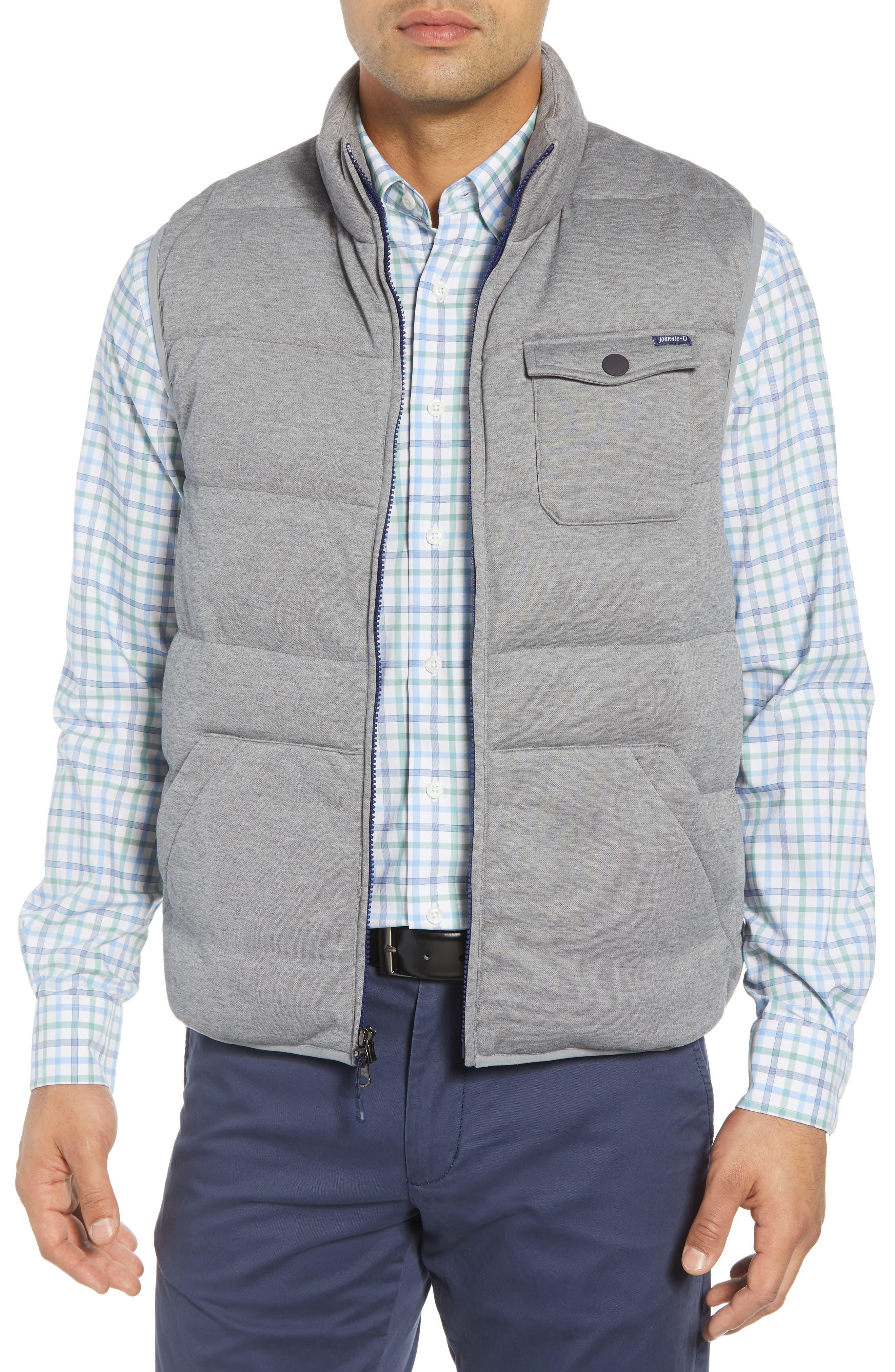 Lassiter Classic Fit Down Camper Vest,                         Main,                         color, LIGHT GREY