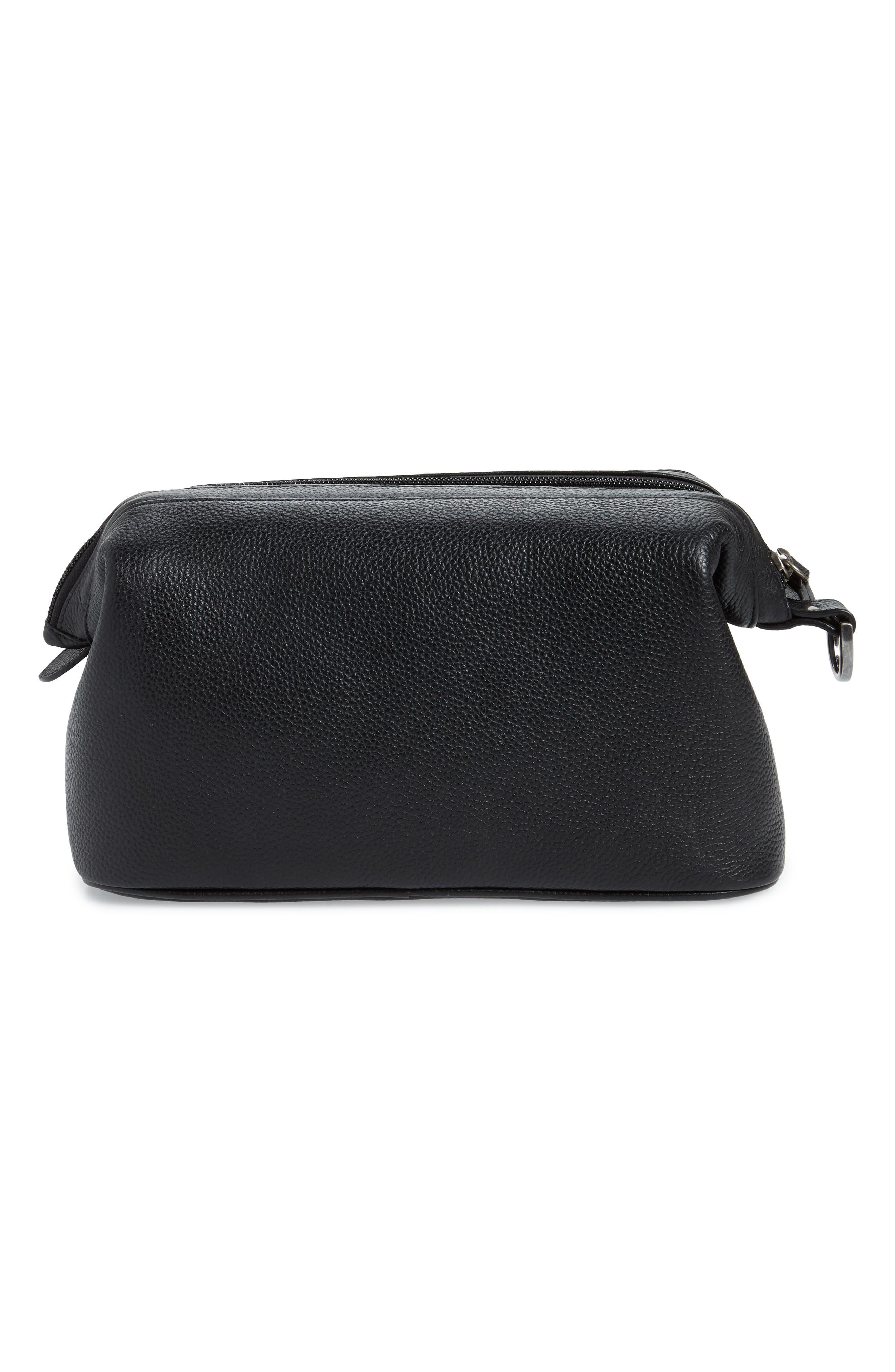 Midland Leather Dopp Kit,                             Alternate thumbnail 2, color,                             BLACK