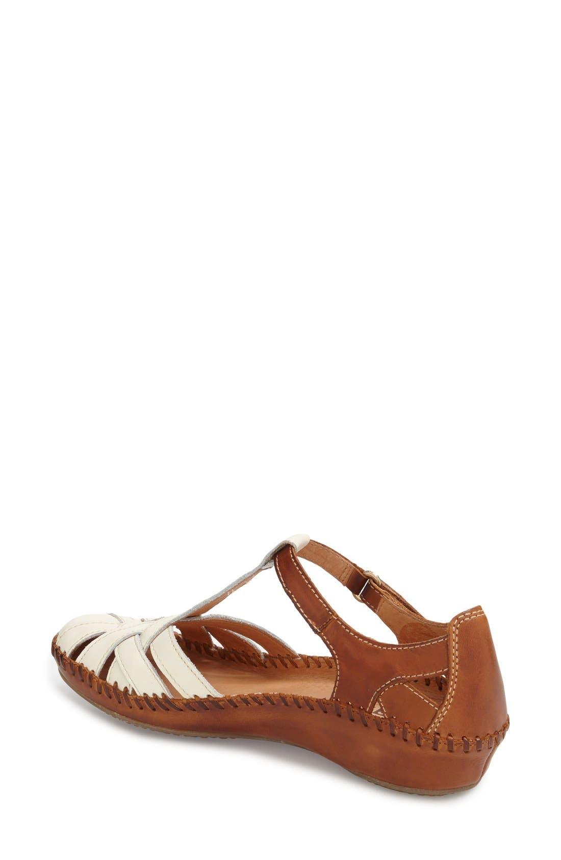 'P. Vallarta 655' T-Strap Sandal,                             Alternate thumbnail 2, color,                             100
