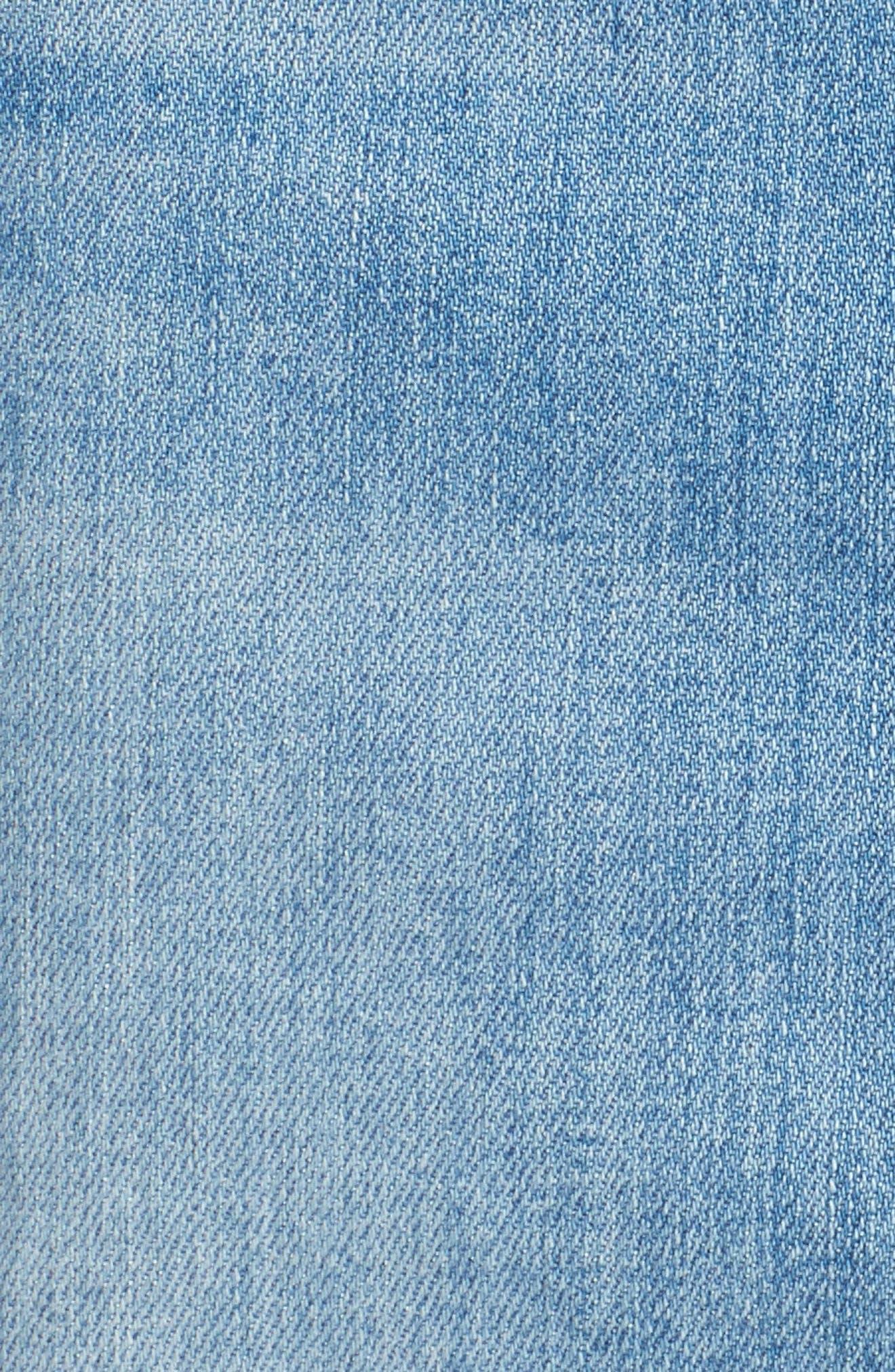Patchwork Denim Skirt,                             Alternate thumbnail 5, color,                             400