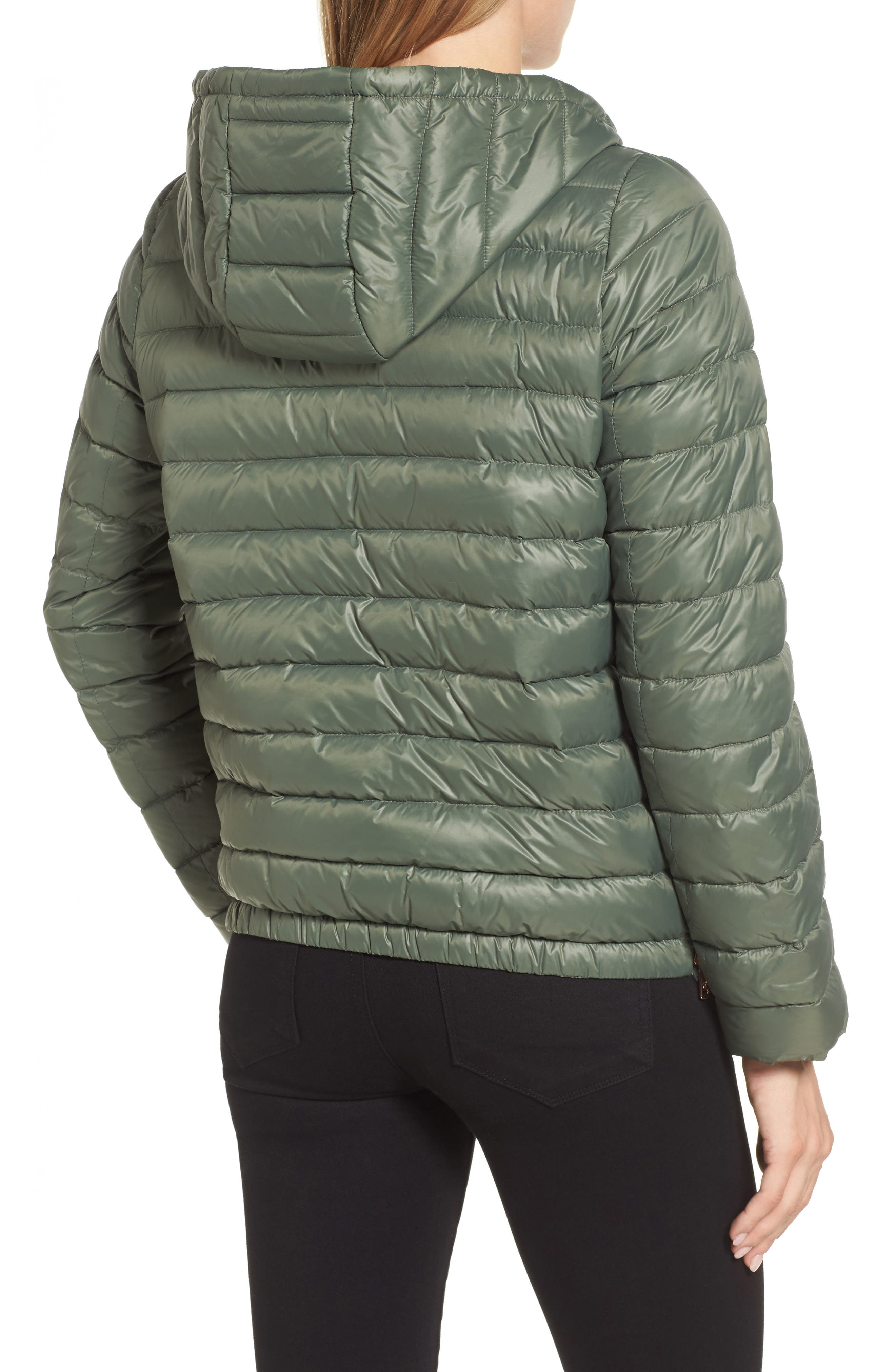 Water Resistant Insulated Hooded Bomber Jacket,                             Alternate thumbnail 5, color,