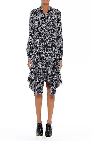 Moon Print Silk Dress, video thumbnail