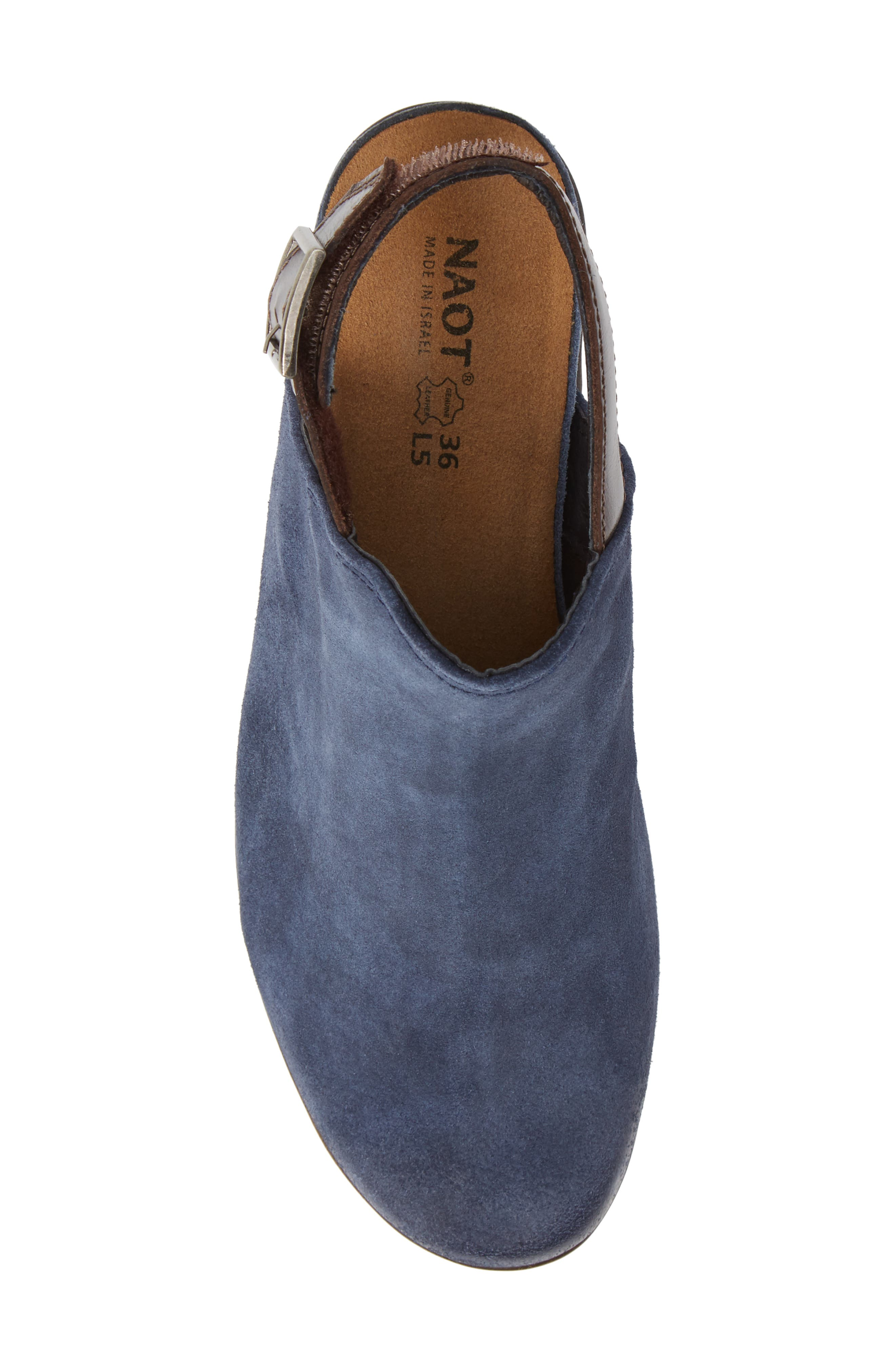 Upgrade Bootie,                             Alternate thumbnail 5, color,                             BLUE/ WALNUT SUEDE/ LEATHER