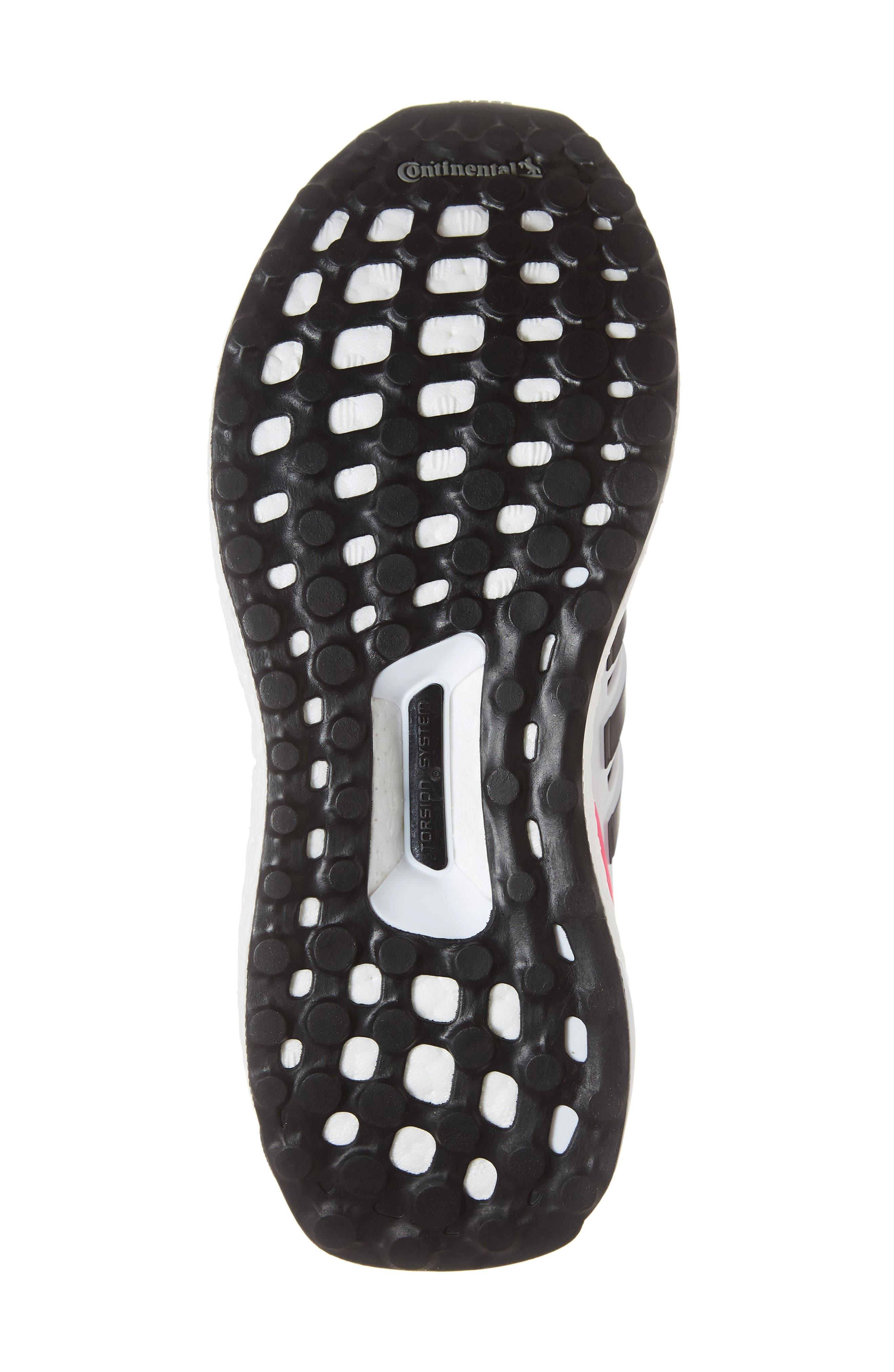 UltraBoost Sneaker,                             Alternate thumbnail 6, color,                             WHITE/ BLACK/ SHOCK PINK
