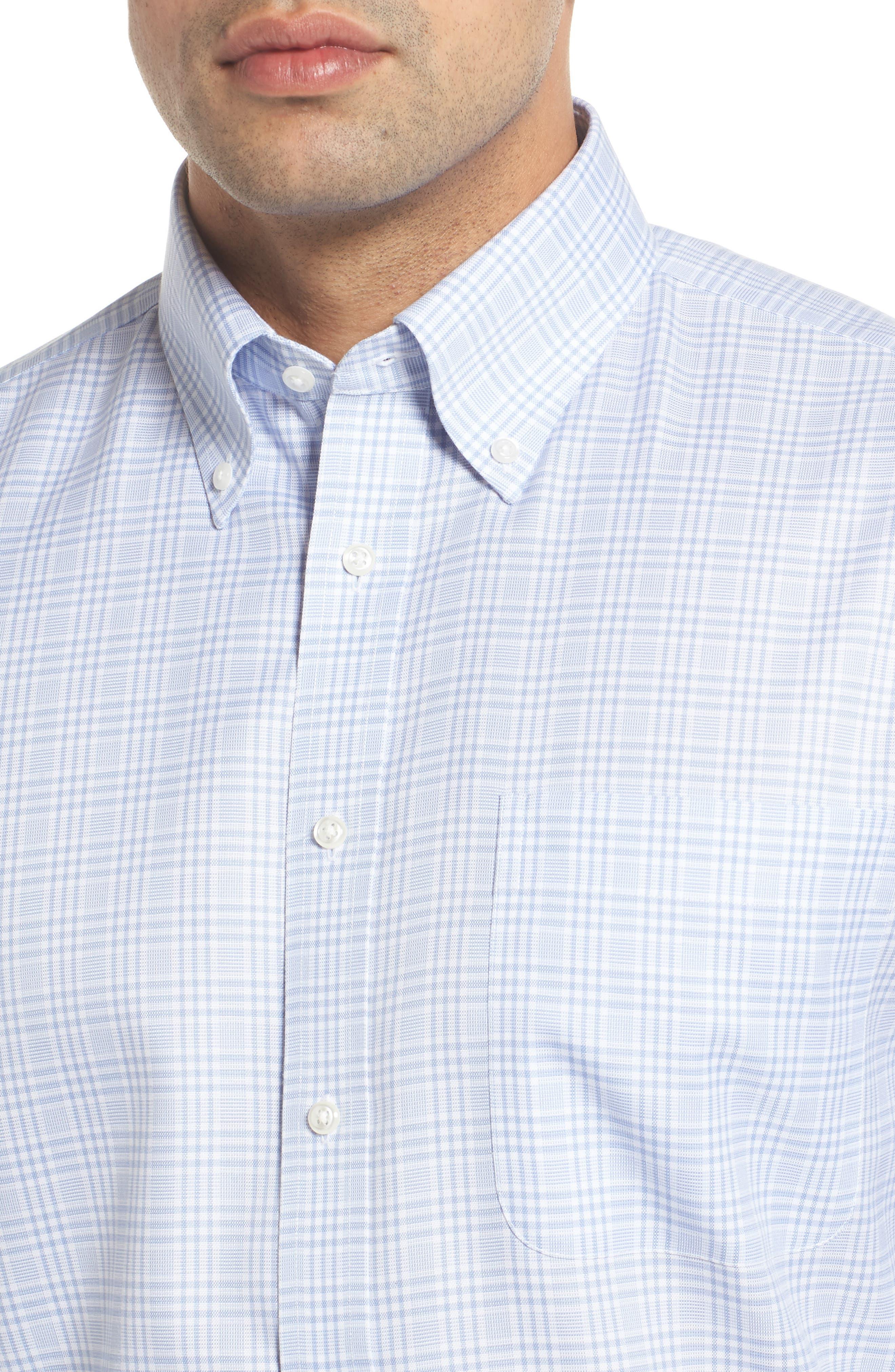 Smartcare<sup>™</sup> Classic Fit Plaid Dress Shirt,                             Alternate thumbnail 4, color,