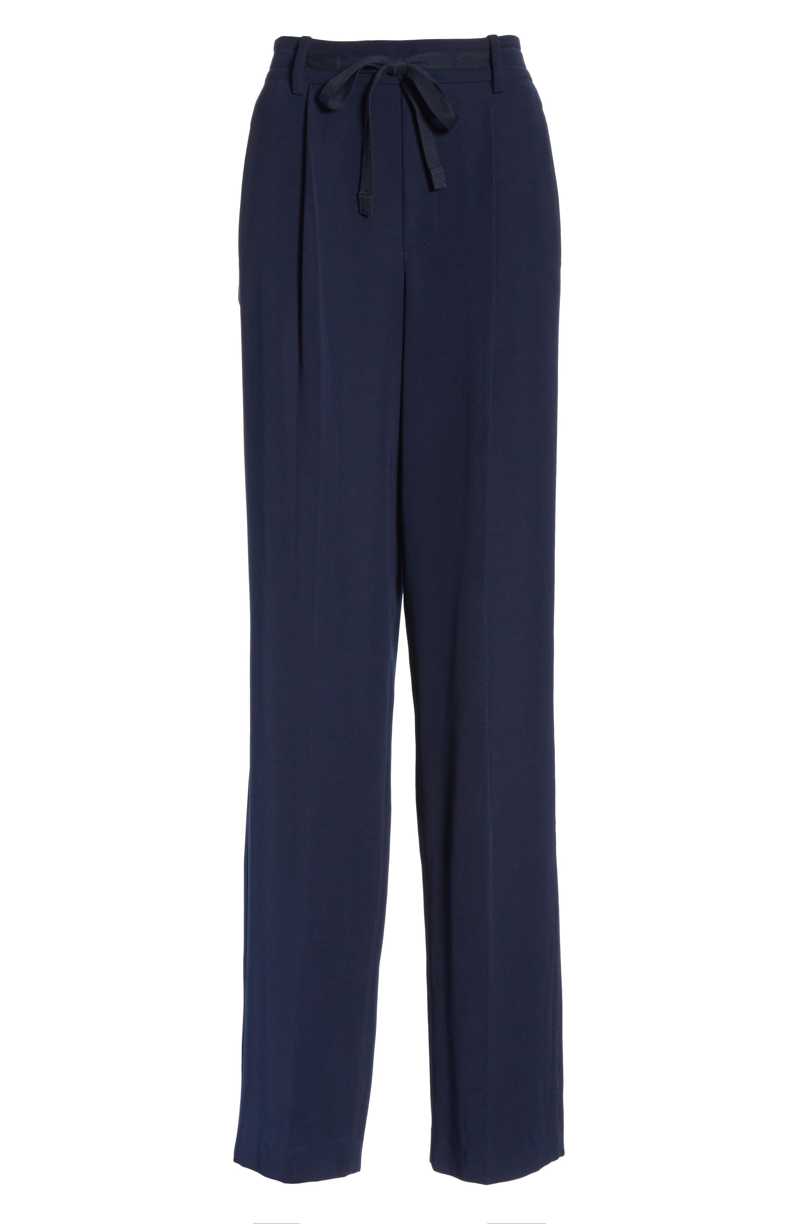 Wide Leg Pull-On Pants,                             Alternate thumbnail 6, color,                             NAVY