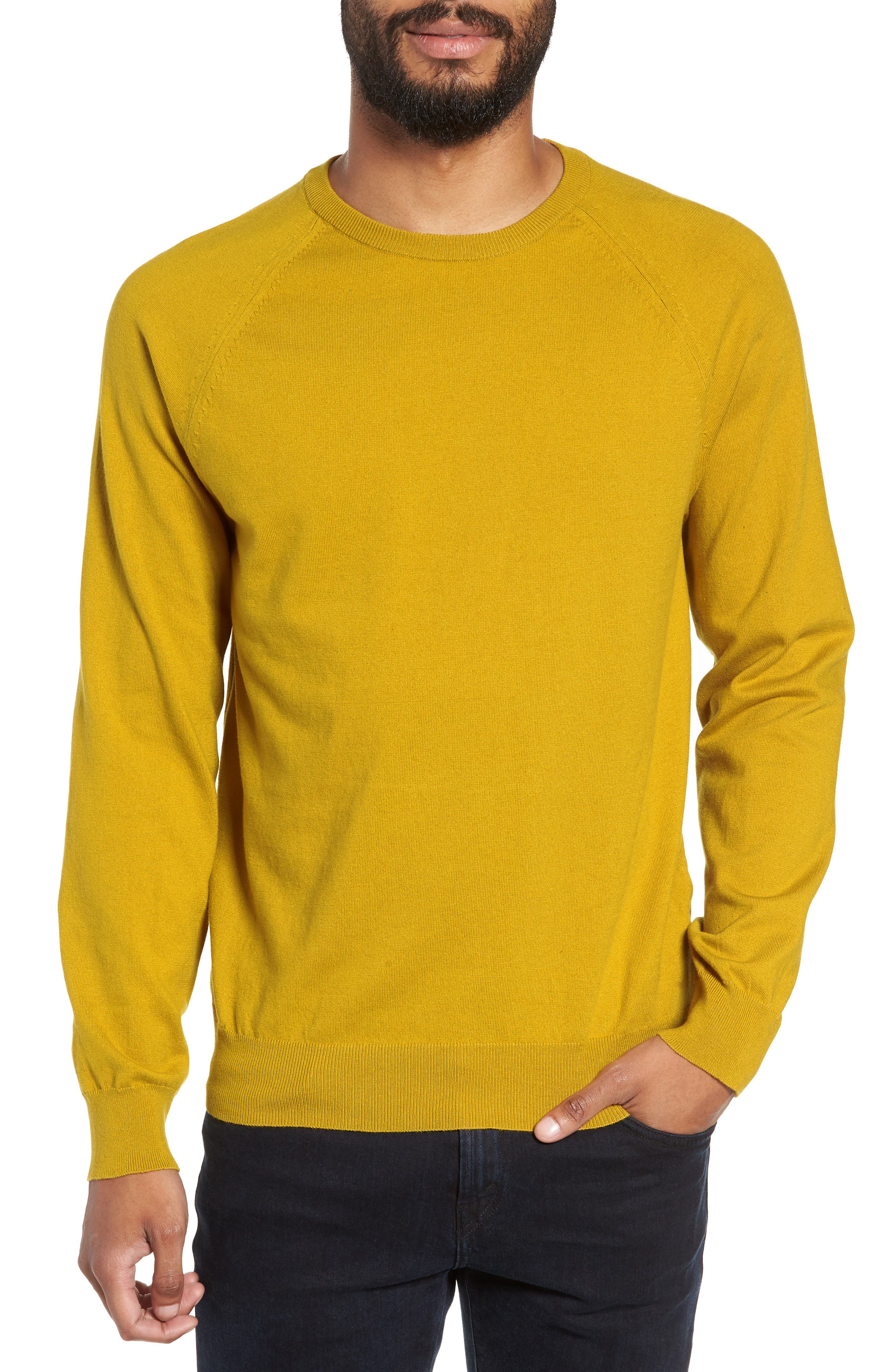 French Connection Regular Fit Crewneck Sweater, Yellow