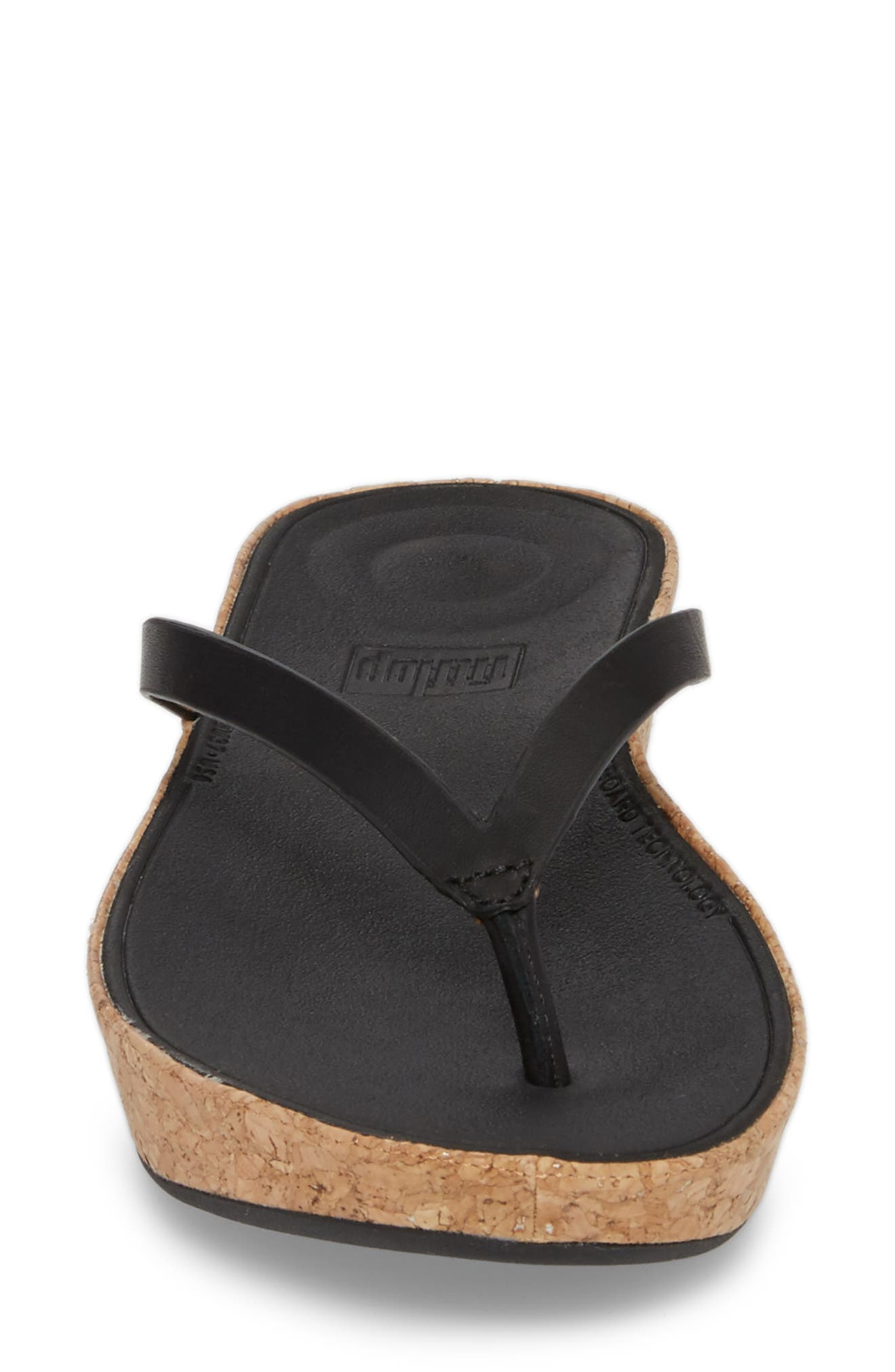 FITFLOP,                             Linny Wedge Flip Flop,                             Alternate thumbnail 4, color,                             001