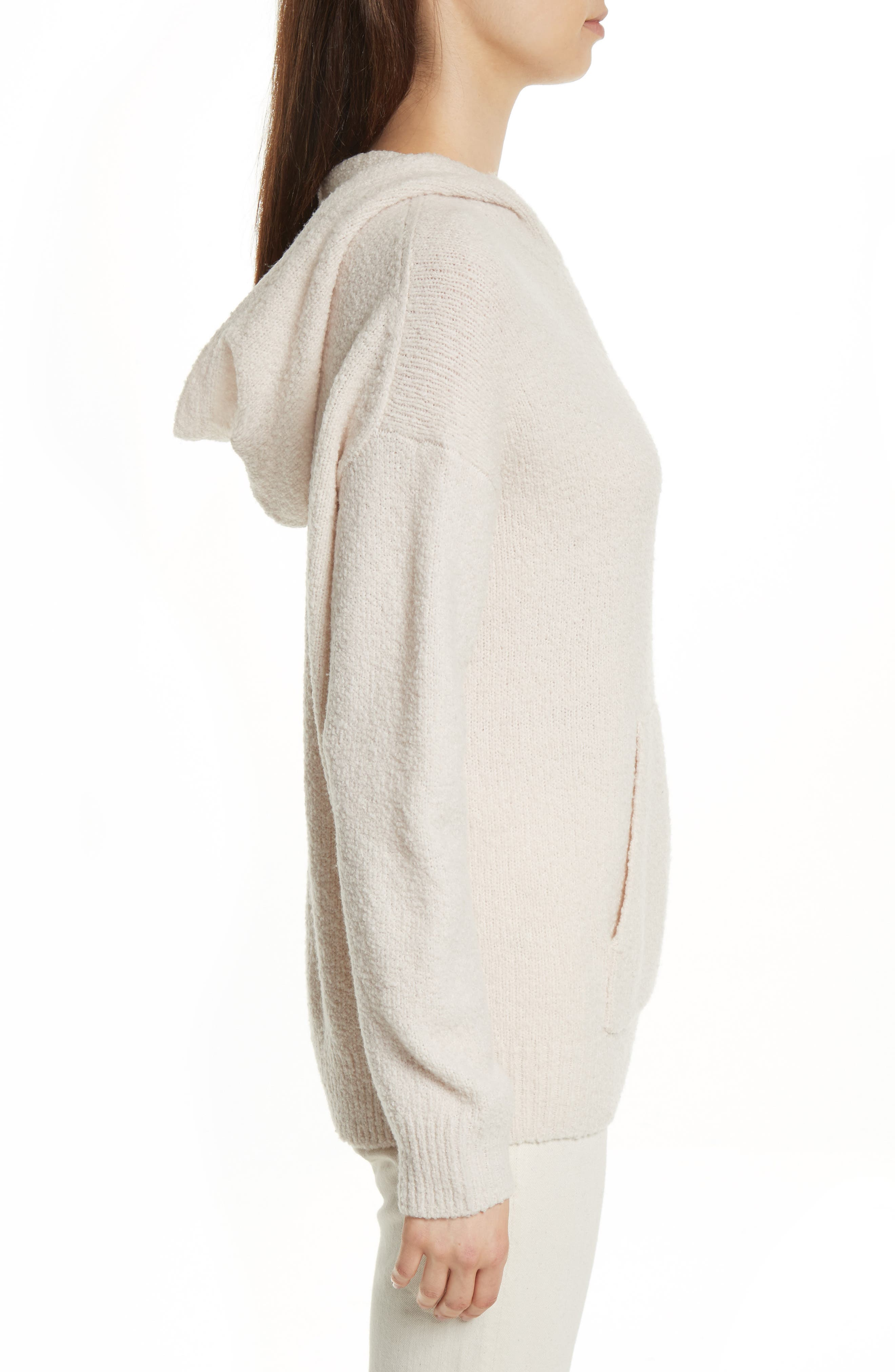 Pullover Knit Hoodie,                             Alternate thumbnail 3, color,                             901