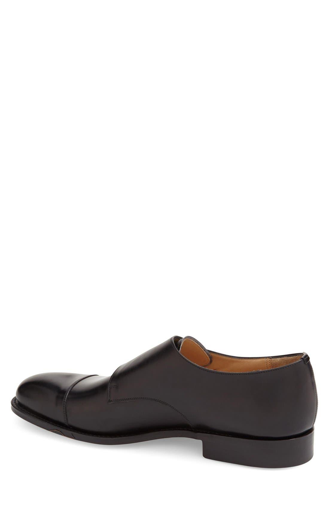'Cowes' Double Monk Strap Shoe,                             Alternate thumbnail 2, color,                             001