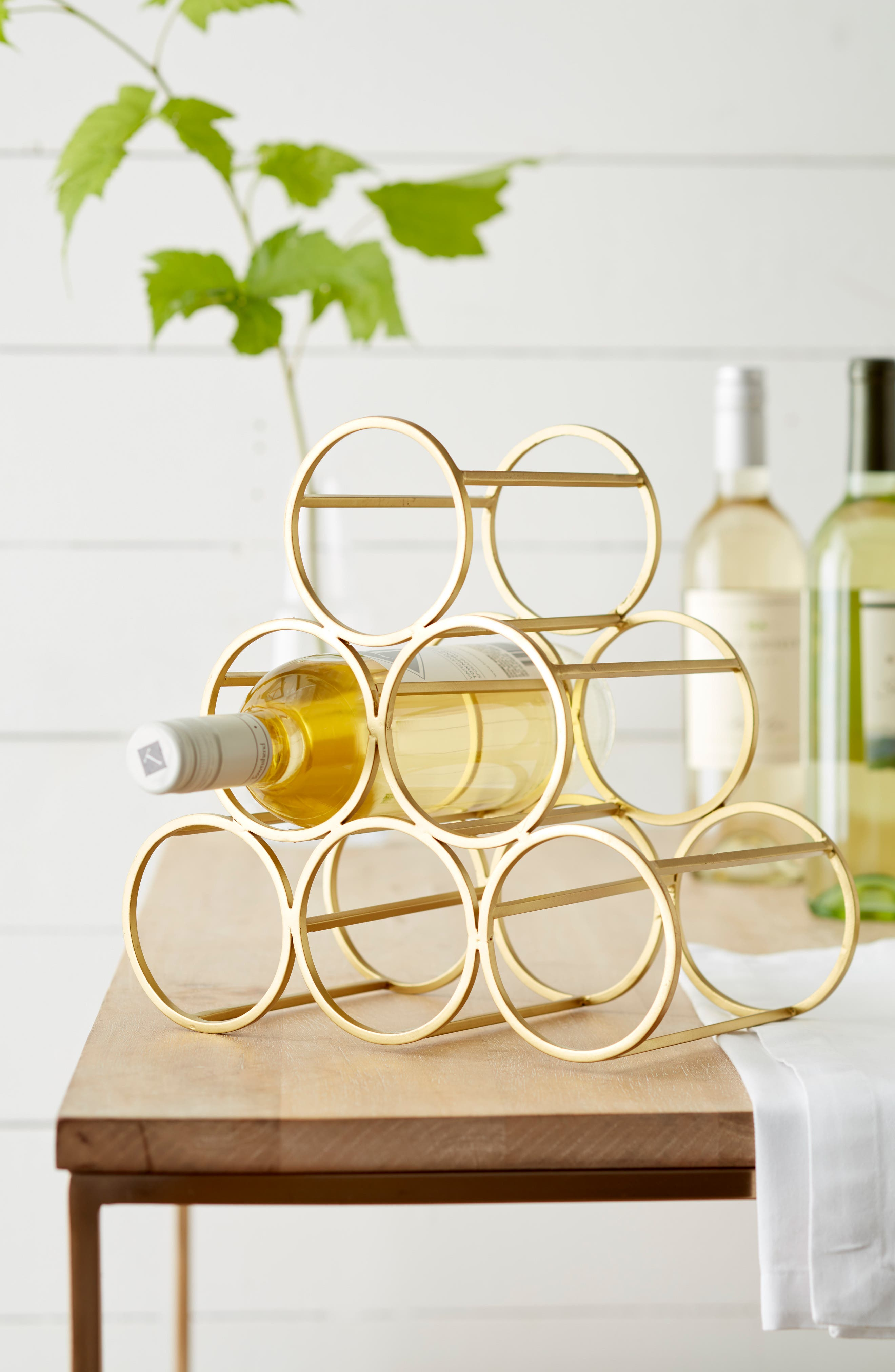 Wine Rack,                             Alternate thumbnail 2, color,                             GOLD METALLIC
