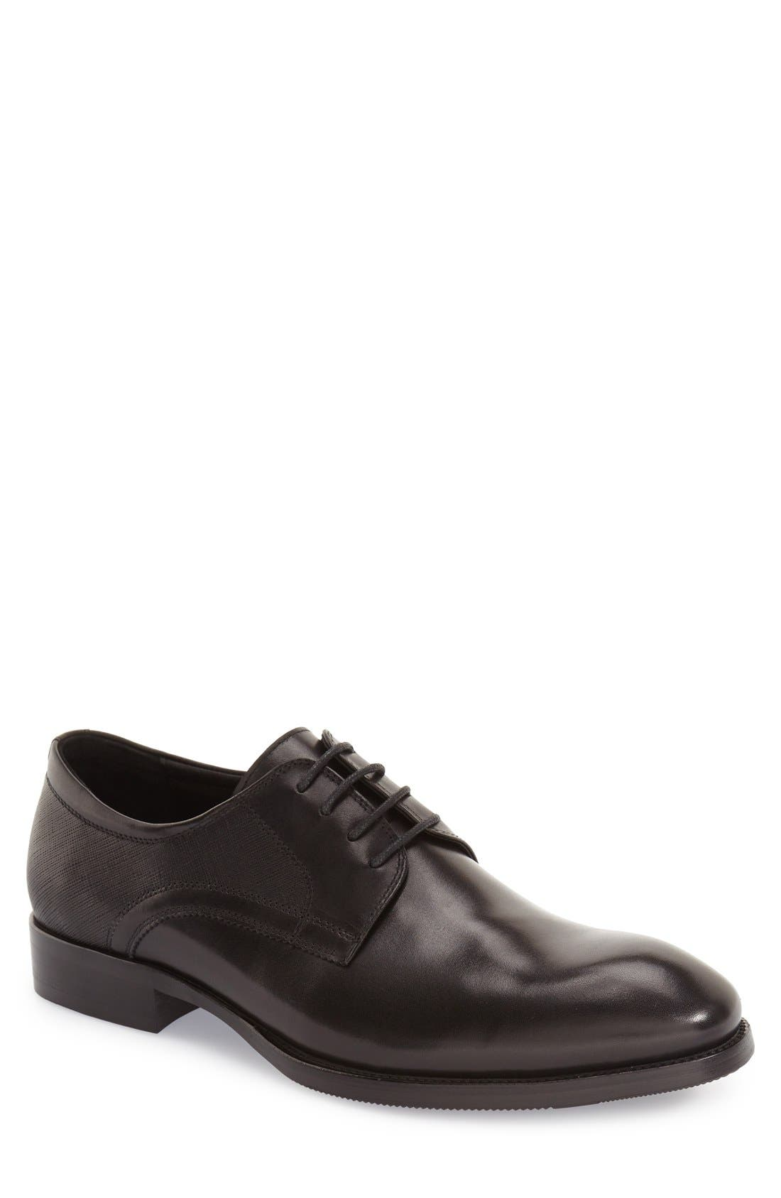 'Bruckner' Plain Toe Derby,                             Main thumbnail 1, color,                             001