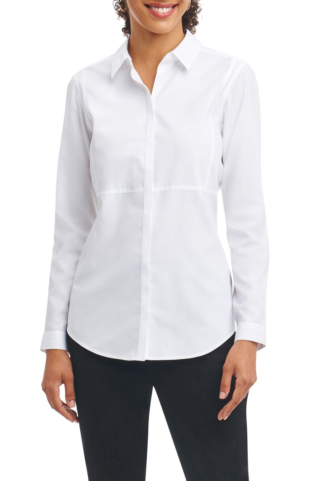 Non-Iron Shirt,                             Main thumbnail 1, color,                             100