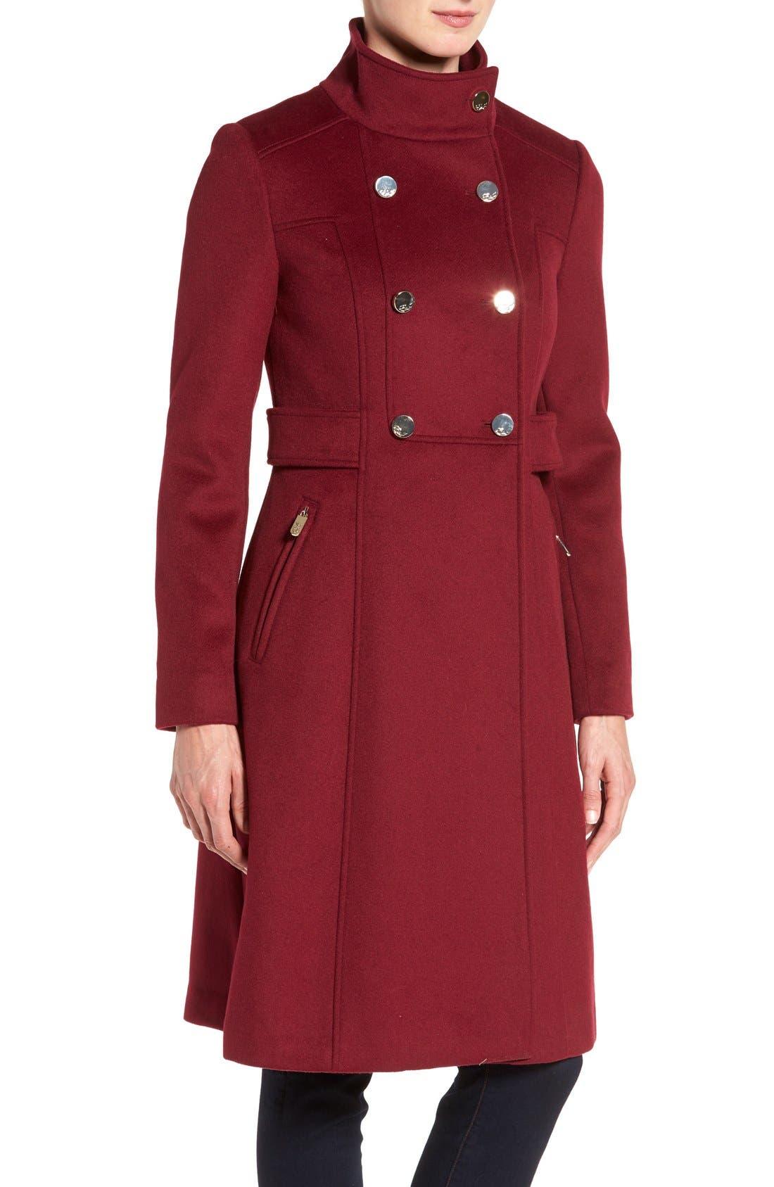 Wool Blend Long Military Coat,                             Alternate thumbnail 20, color,