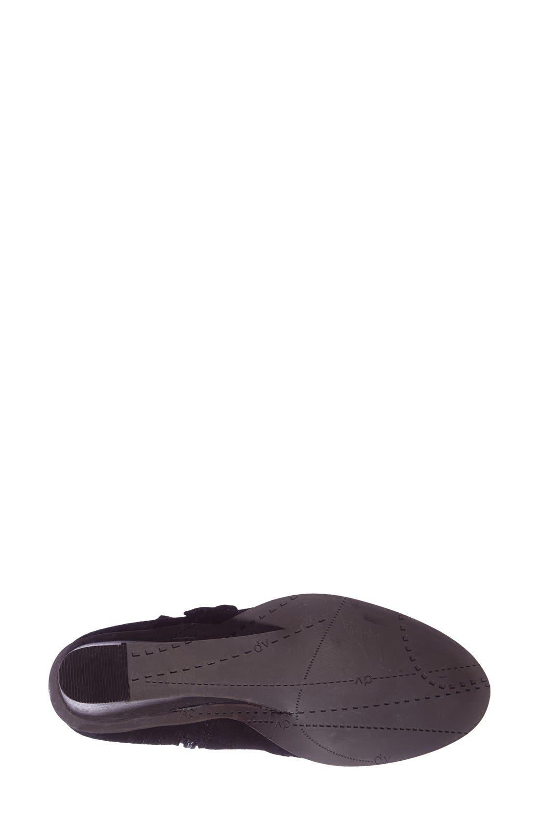 DV Footwear 'Fabian' Monk Strap Wedge Bootie,                             Alternate thumbnail 2, color,                             001
