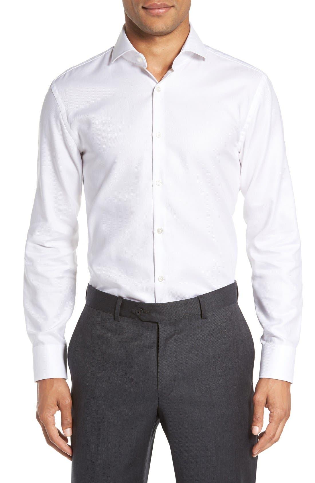 Sharp Fit Dress Shirt,                             Alternate thumbnail 2, color,                             100