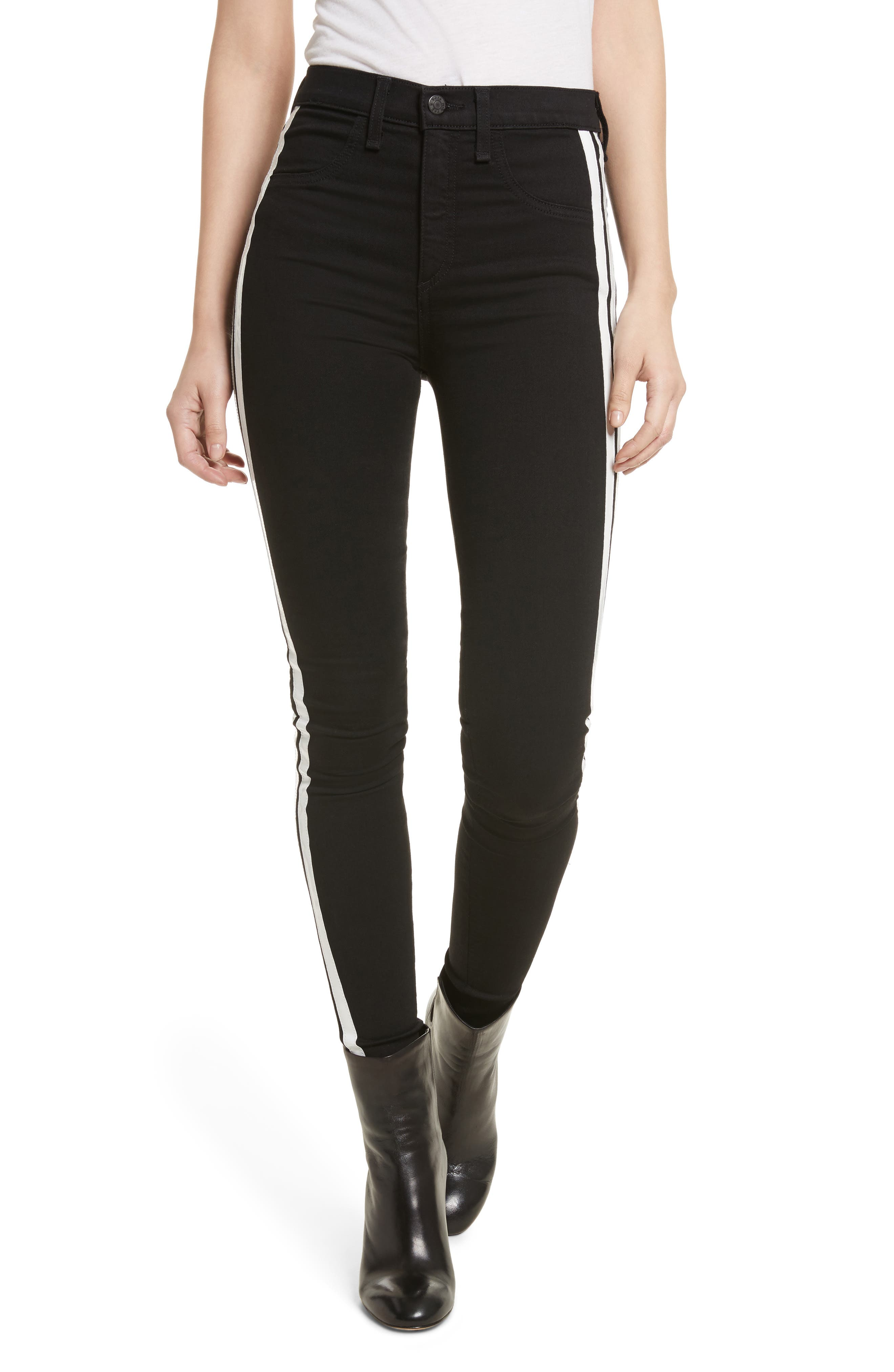 Mito High Waist Skinny Jeans,                         Main,                         color, 001