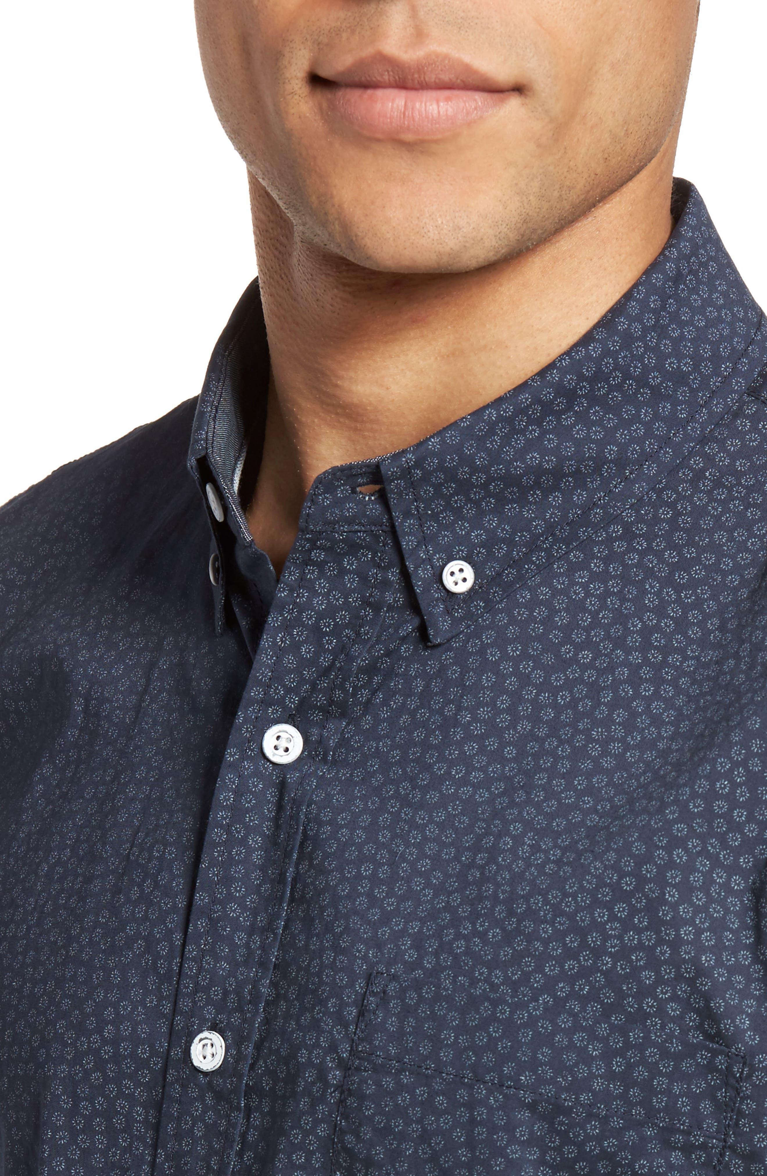 Nash Cotton Sport Shirt,                             Alternate thumbnail 4, color,                             401
