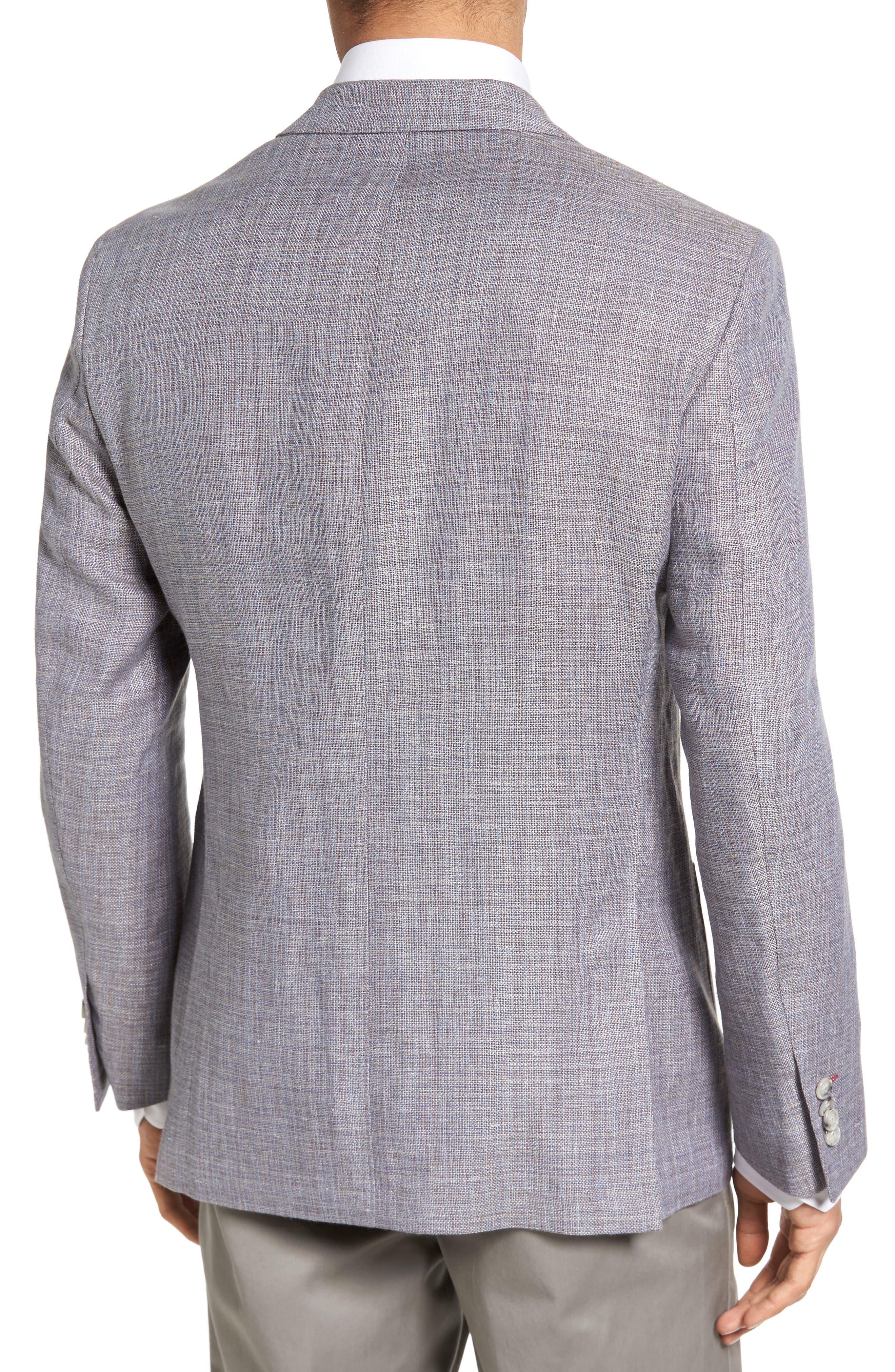 JKT NEW YORK,                             Trim Fit Wool & Linen Blazer,                             Alternate thumbnail 2, color,                             020