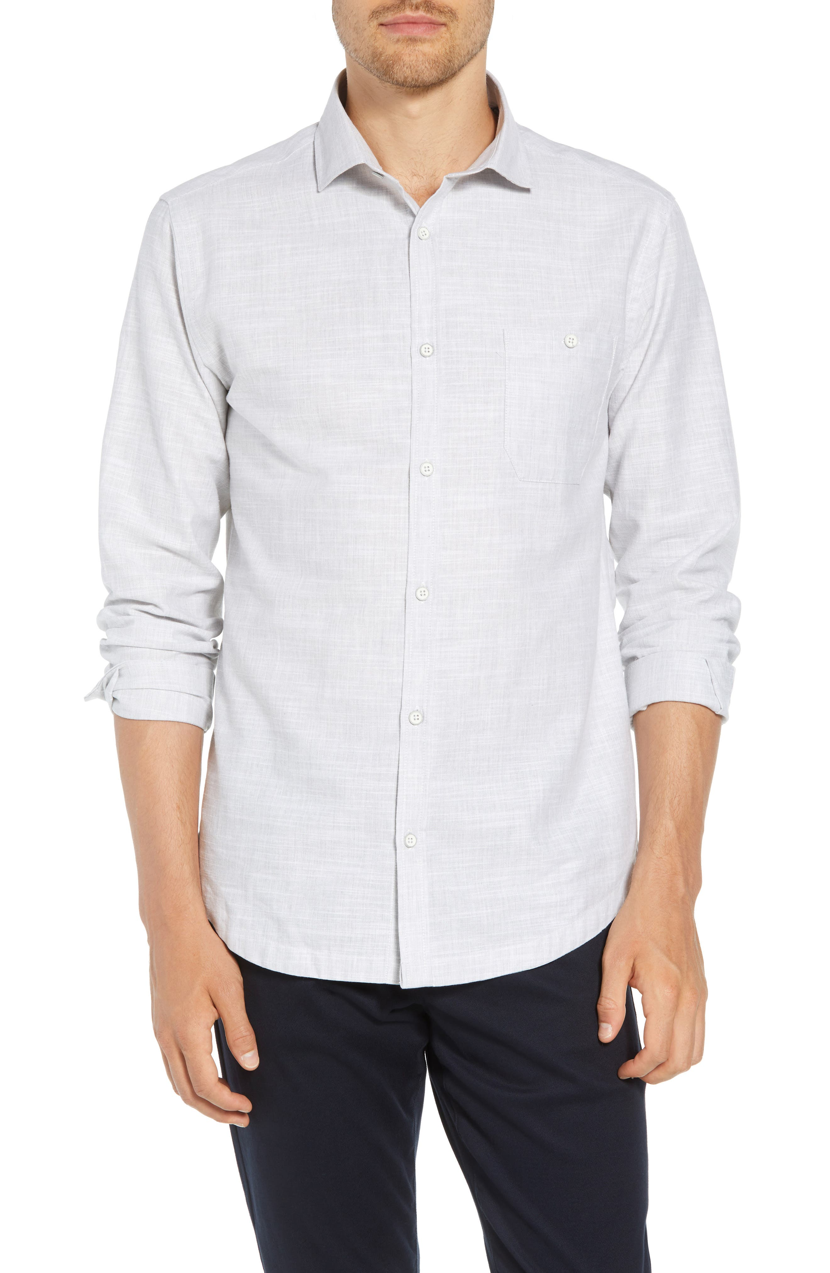 Rugger Regular Fit Sport Shirt,                             Main thumbnail 1, color,                             LIGHT GREY