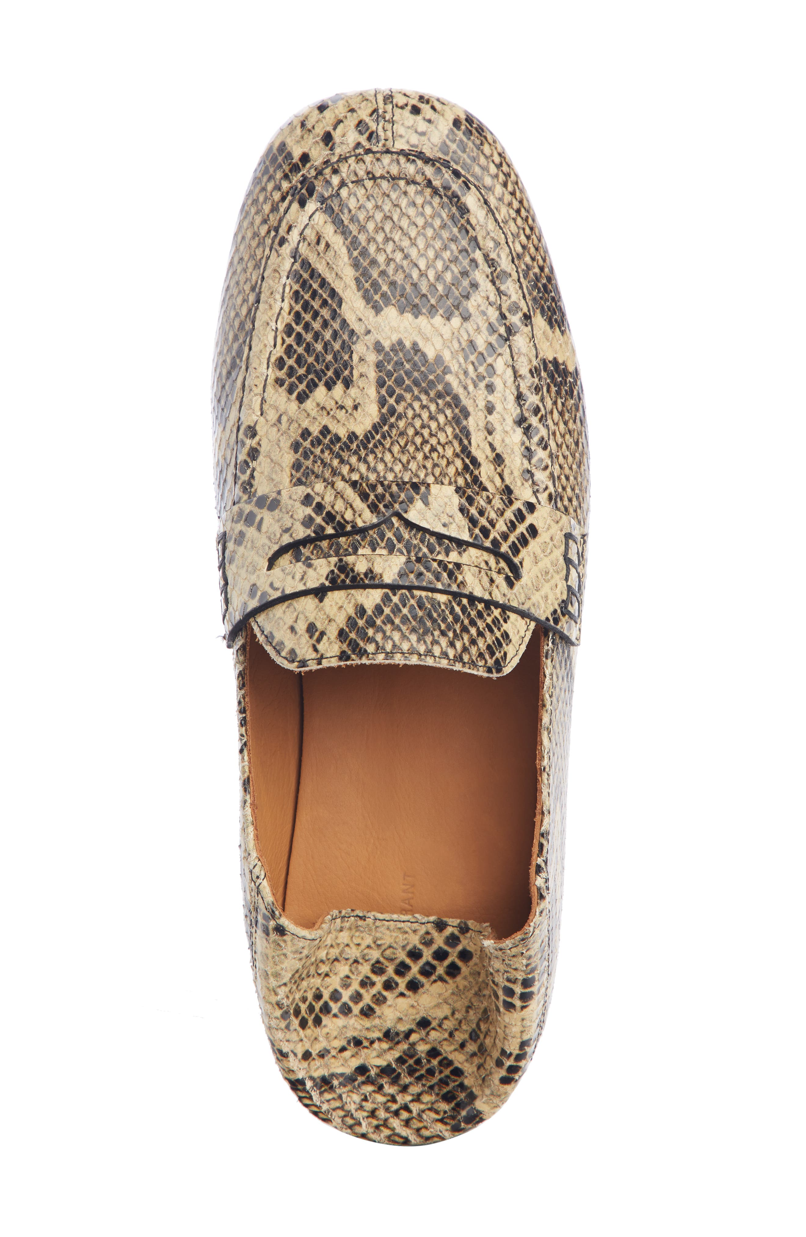 Fezzy Snakeskin Embossed Convertible Loafer,                             Alternate thumbnail 5, color,                             NATURAL EXOTIC