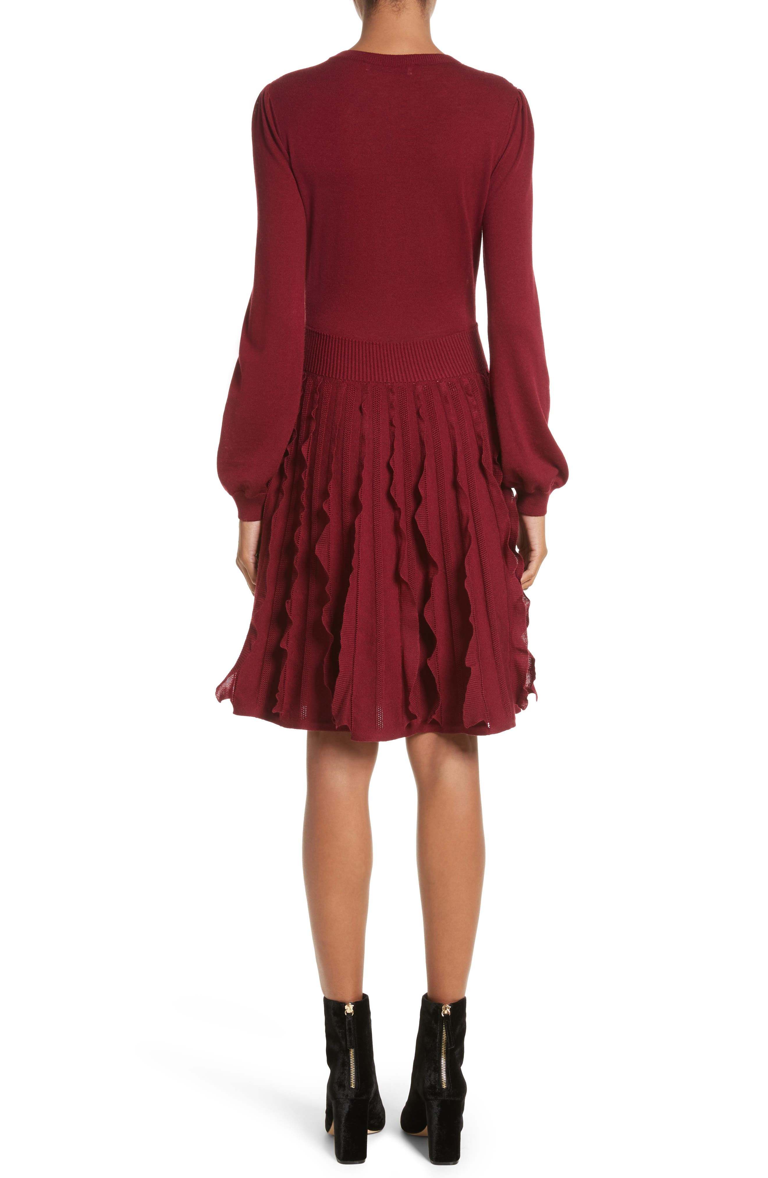 Guipure Lace & Wool Knit Dress,                             Alternate thumbnail 2, color,                             930