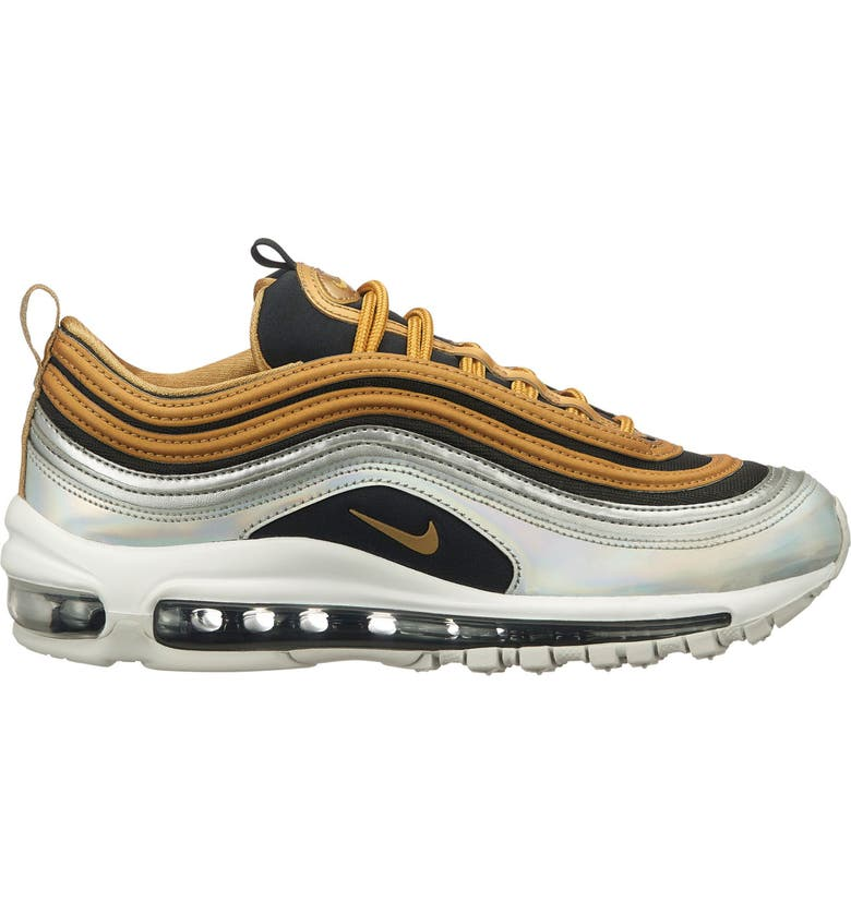 newest c6572 45f45 NIKE Air Max 97 SE Sneaker, Main, color, GOLD SILVER BLACK