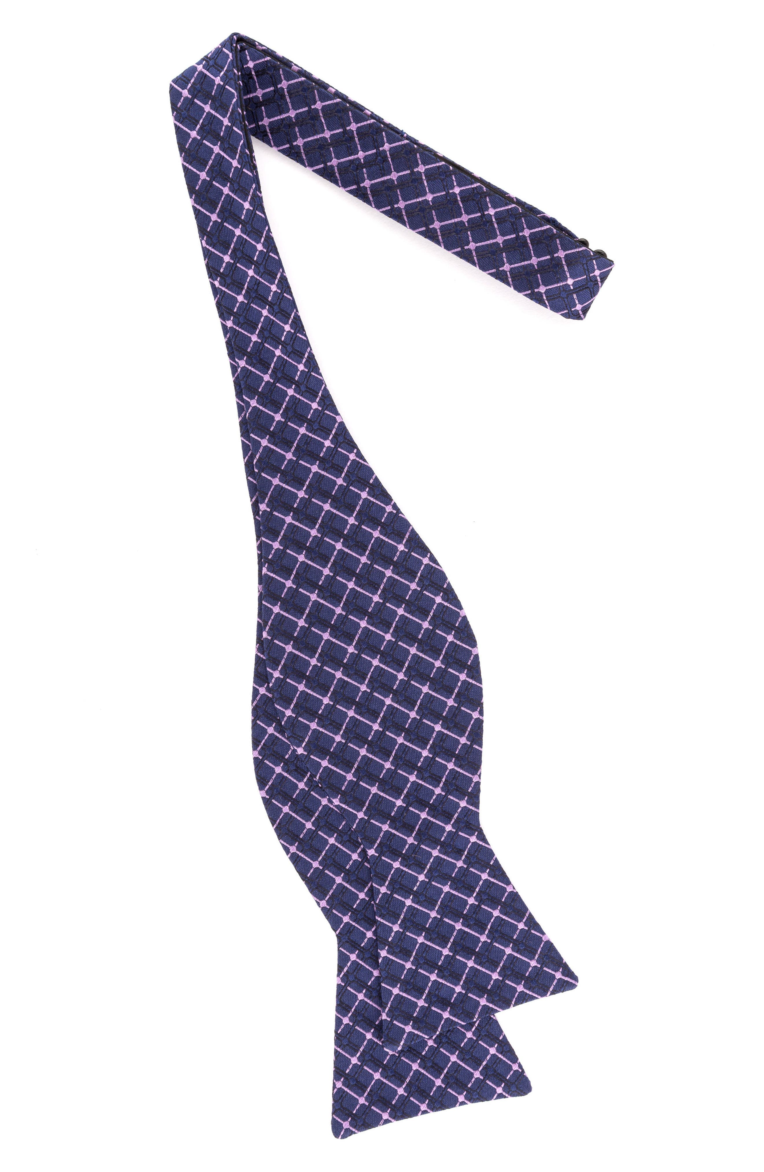 Superb Check Silk Bow Tie,                             Alternate thumbnail 10, color,