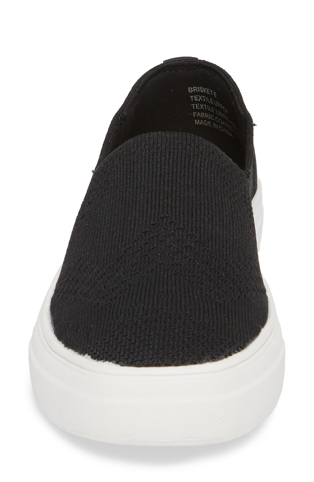 Brisket Slip-On Sneaker,                             Alternate thumbnail 4, color,                             001